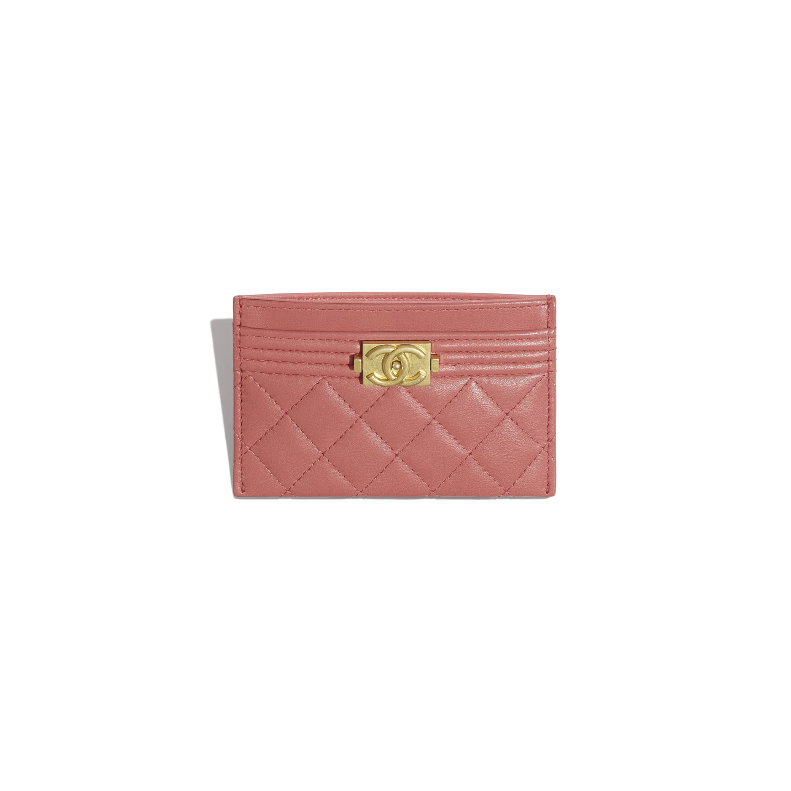 BOY CHANEL Card Holder - Pink - Lambskin - Other view - see standard sized version