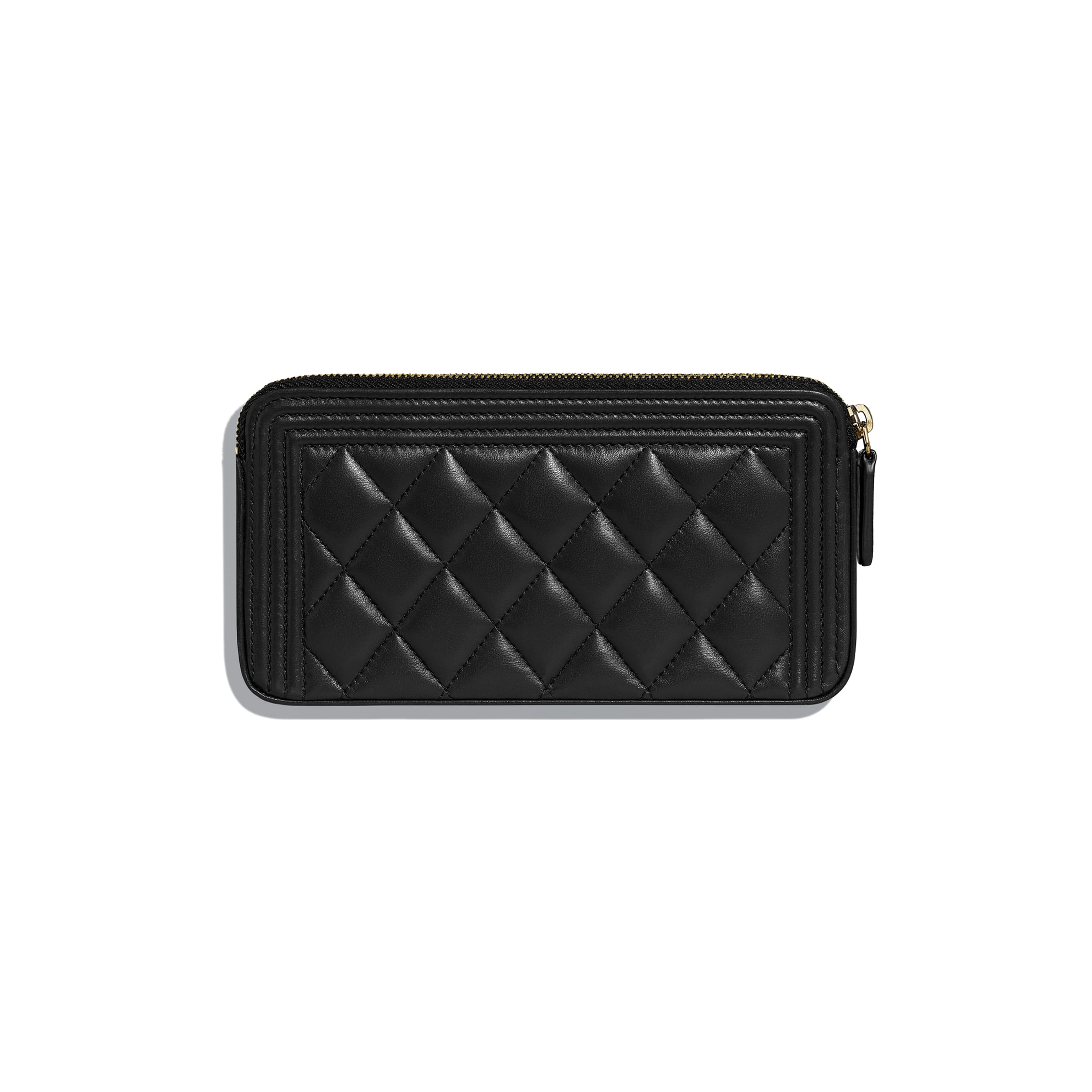 BOY CHANEL Clutch With Chain - Black - Lambskin - Alternative view - see standard sized version