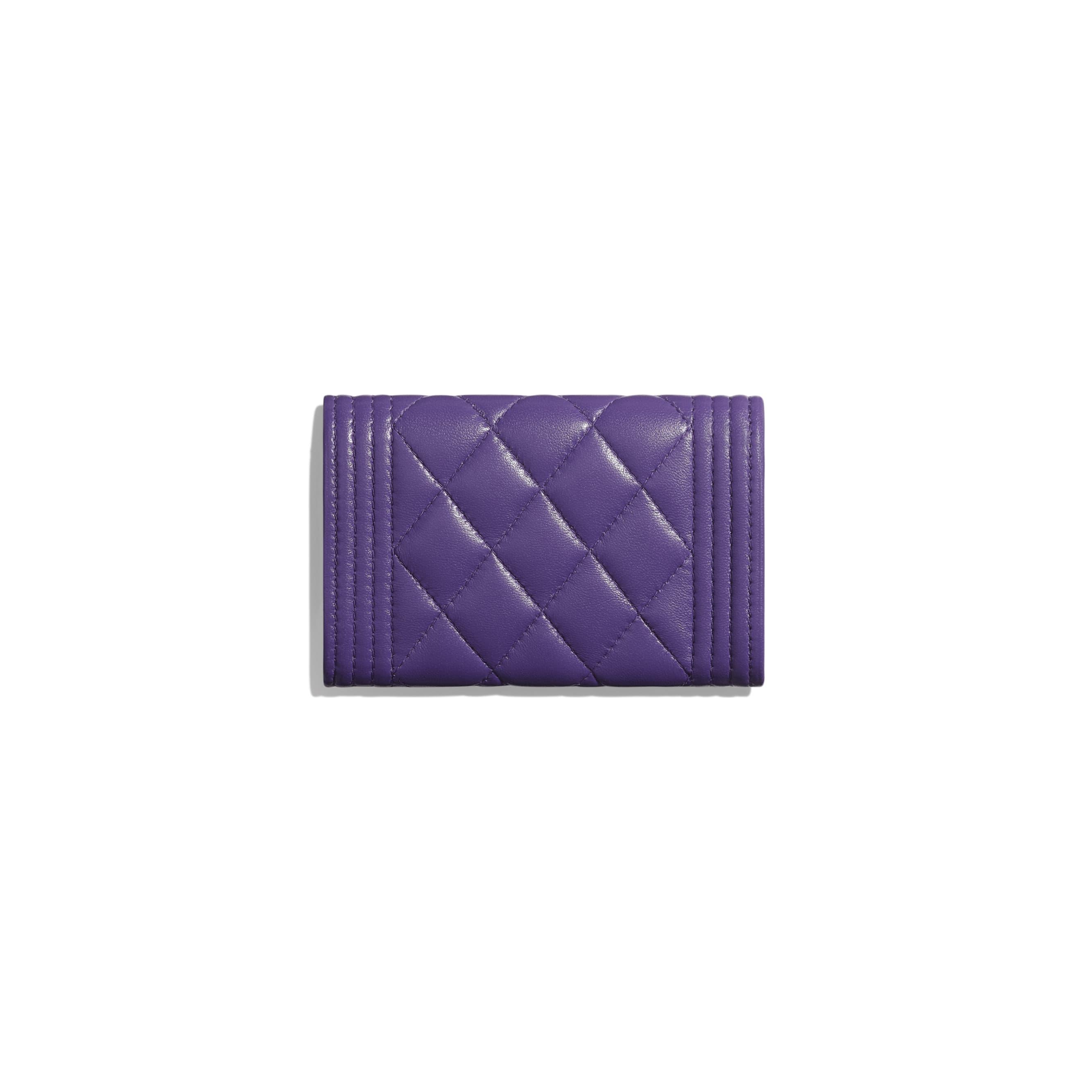 BOY CHANEL Flap Card Holder - Purple - Lambskin - Alternative view - see standard sized version