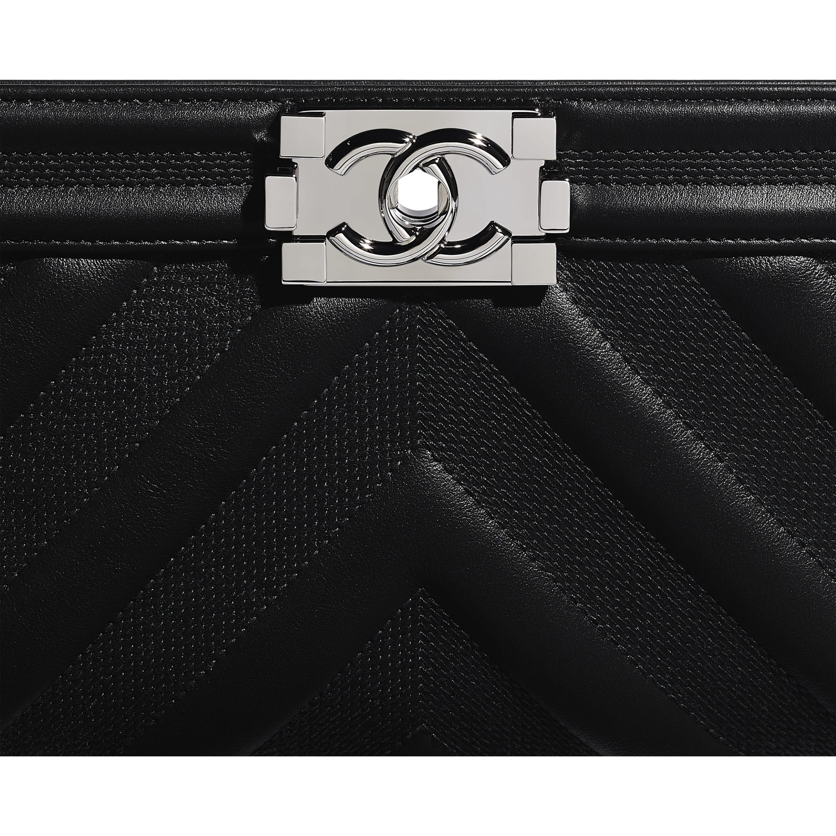 BOY CHANEL Handbag - Black - Calfskin & Ruthenium-Finish Metal - Extra view - see standard sized version