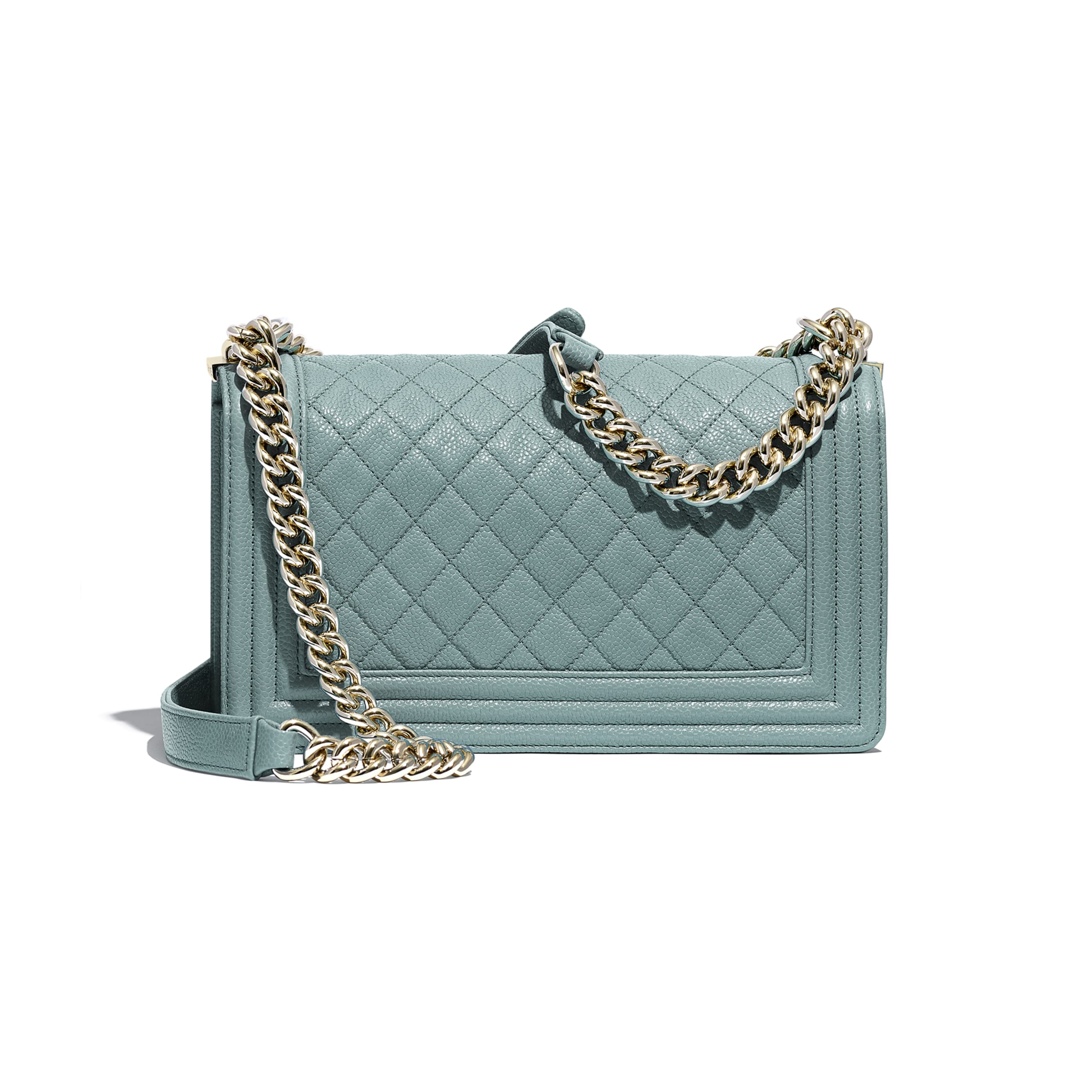 BOY CHANEL Handbag - Blue - Grained Calfskin & Gold-Tone Metal - CHANEL - Alternative view - see standard sized version