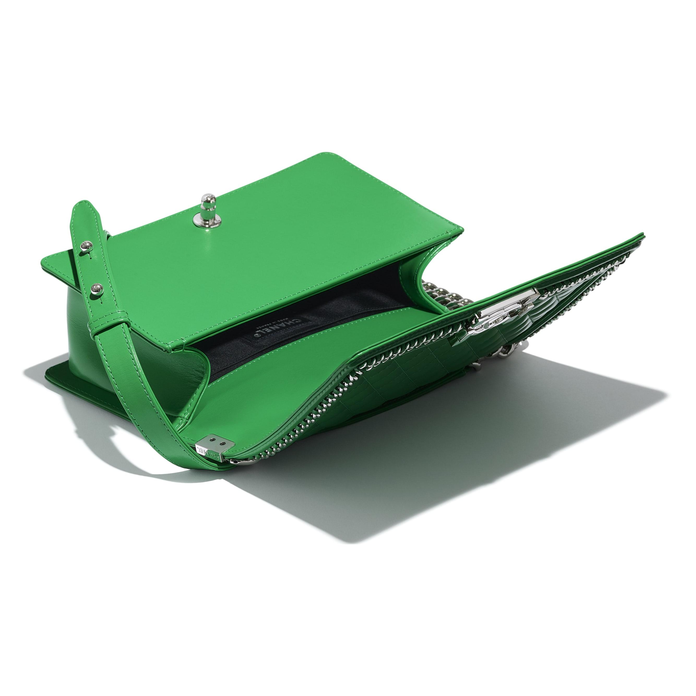 Borsa BOY CHANEL - Verde - Pelle & metallo effetto argentato - CHANEL - Altra immagine - vedere versione standard