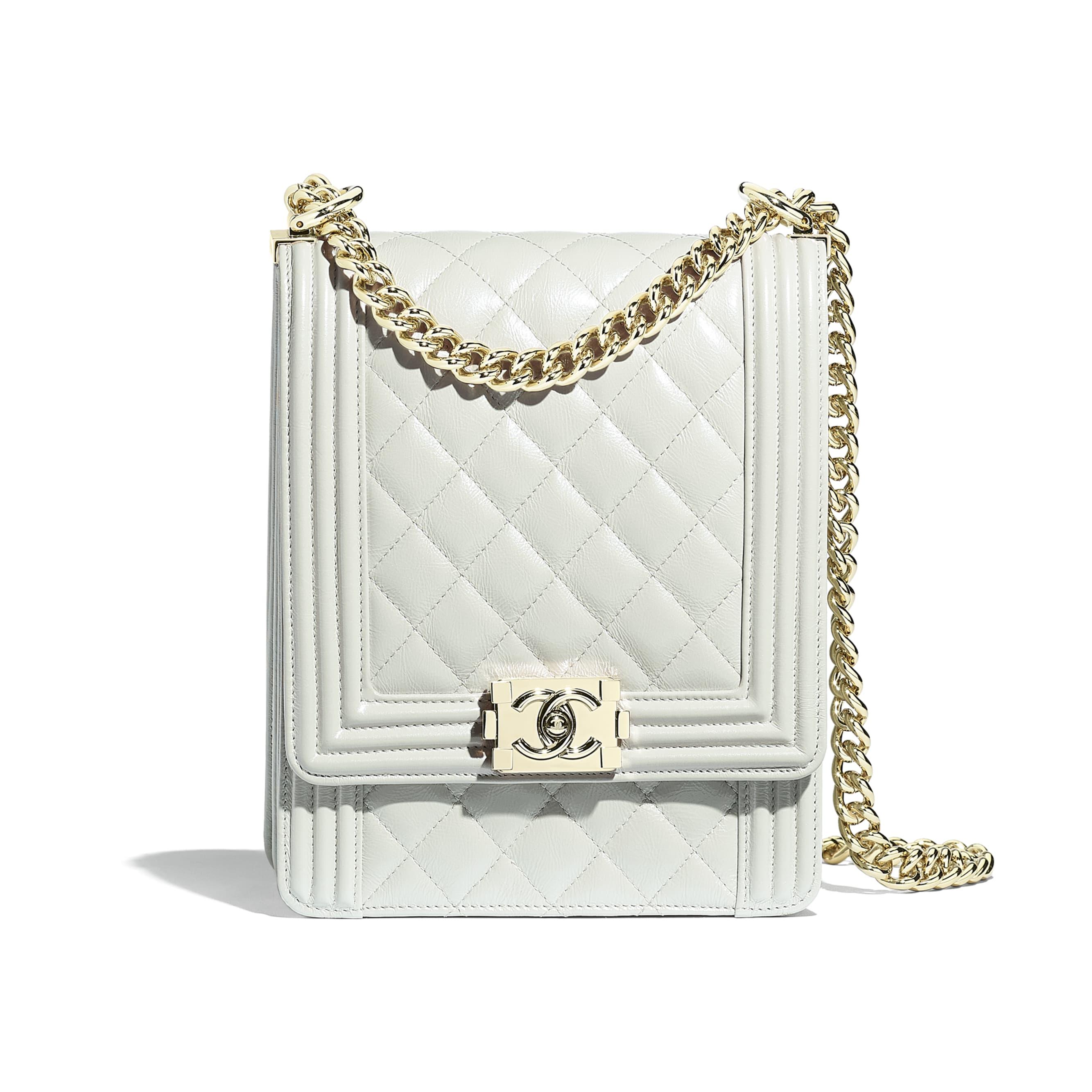 BOY CHANEL Handbag - Light Gray - Iridescent Calfskin & Gold-Tone Metal - Default view - see standard sized version