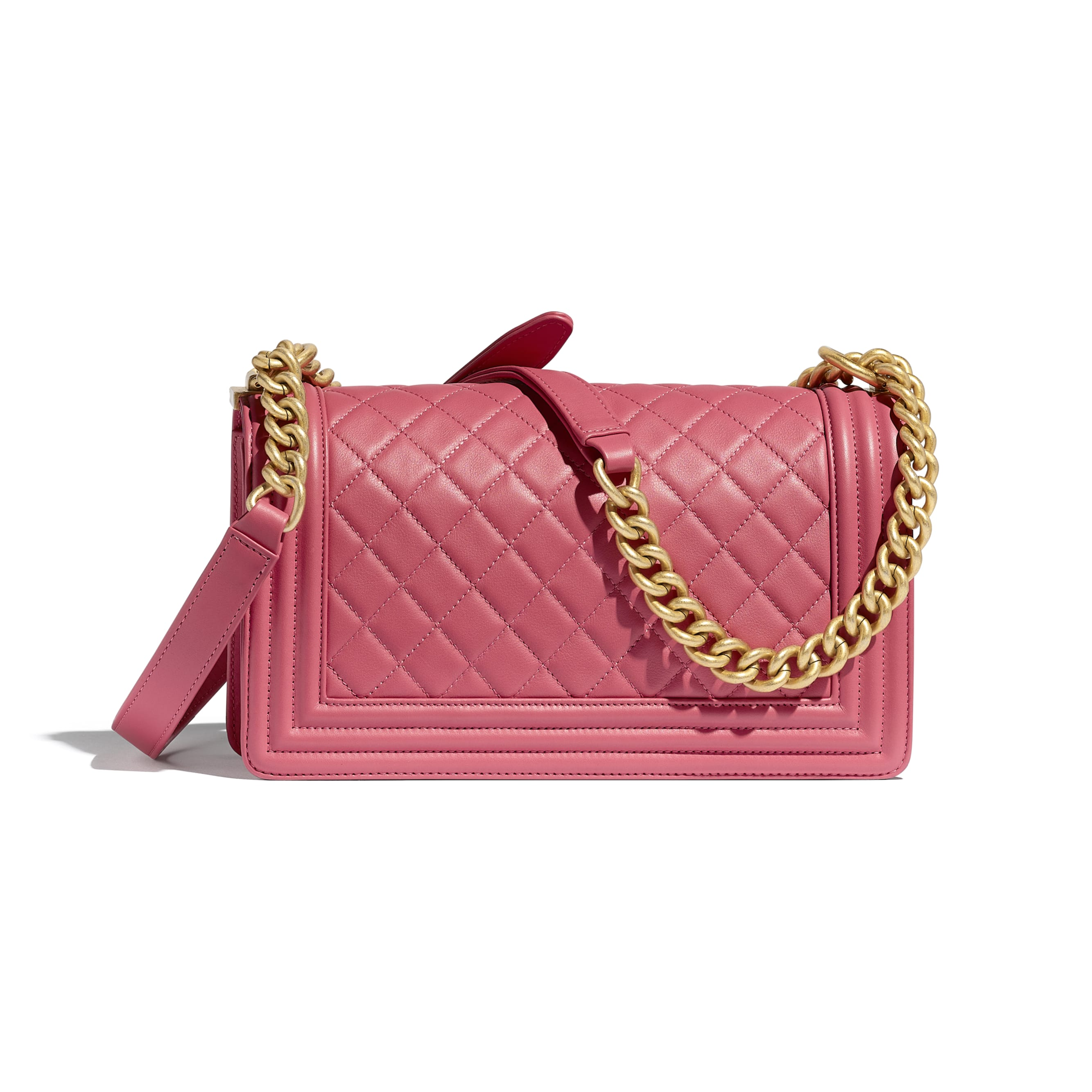BOY CHANEL Handbag - Pink - Calfskin & Gold-Tone Metal - CHANEL - Alternative view - see standard sized version
