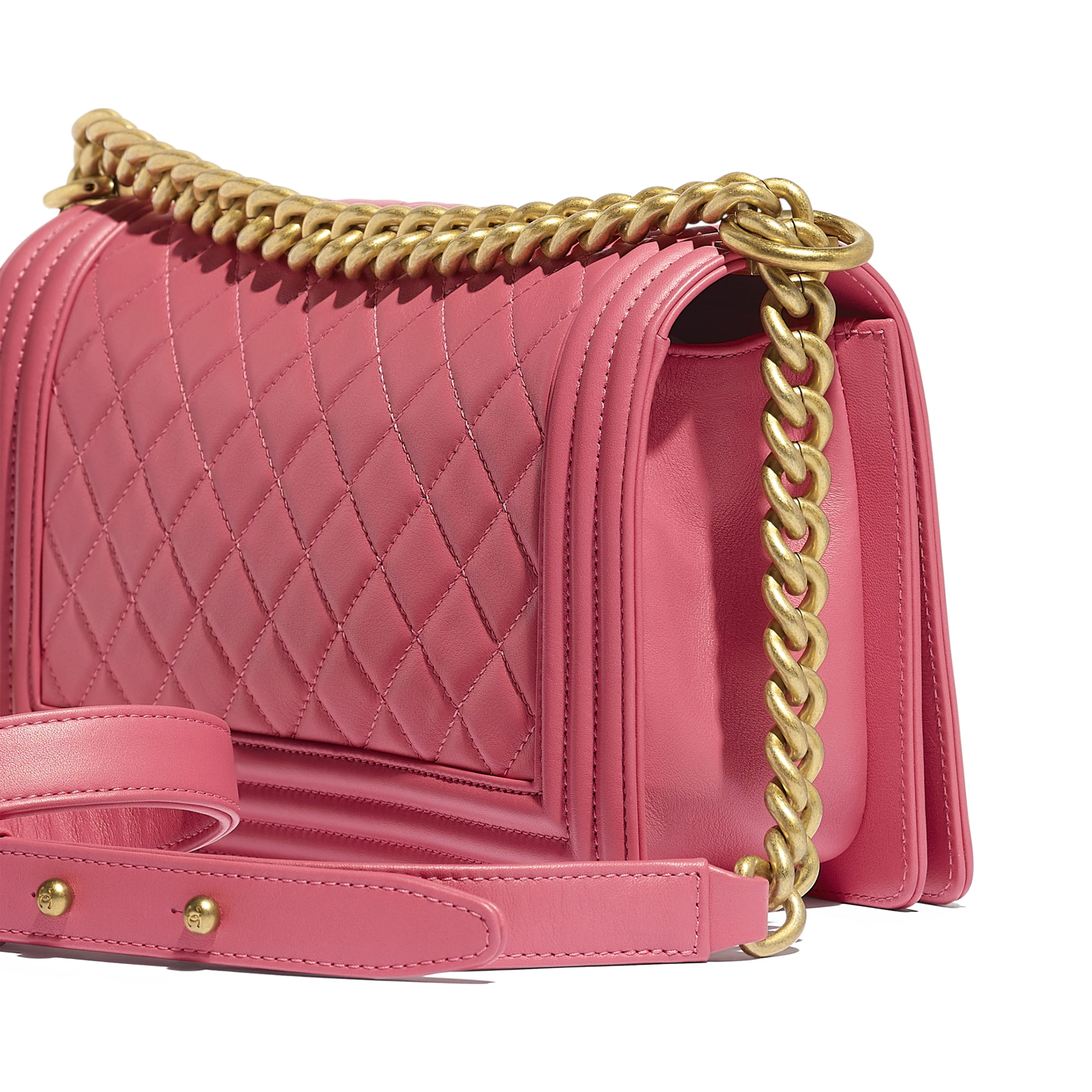 BOY CHANEL Handbag - Pink - Calfskin & Gold-Tone Metal - CHANEL - Extra view - see standard sized version