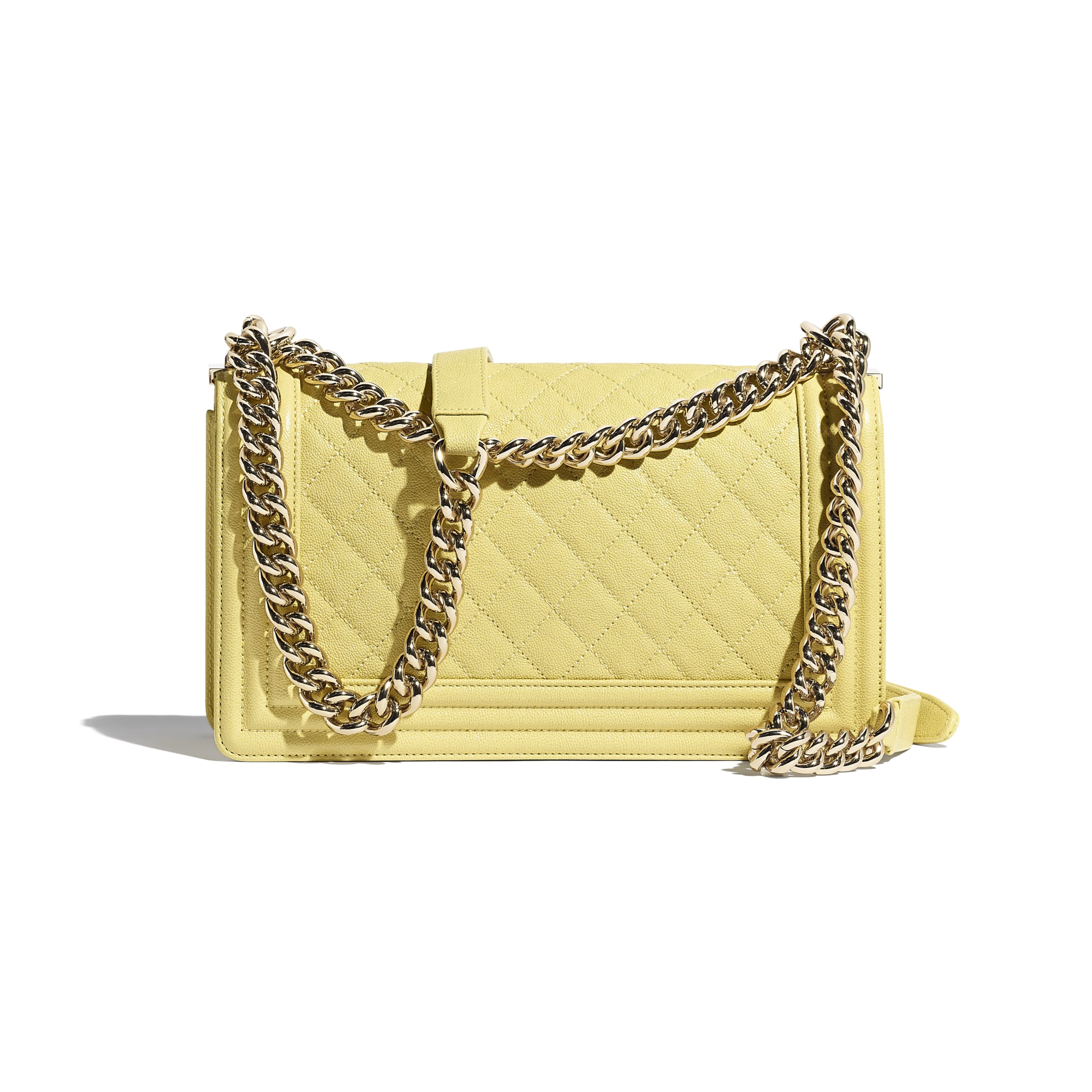 BOY CHANEL Handbag - Yellow - Grained Calfskin & Gold-Tone Metal - CHANEL - Alternative view - see standard sized version
