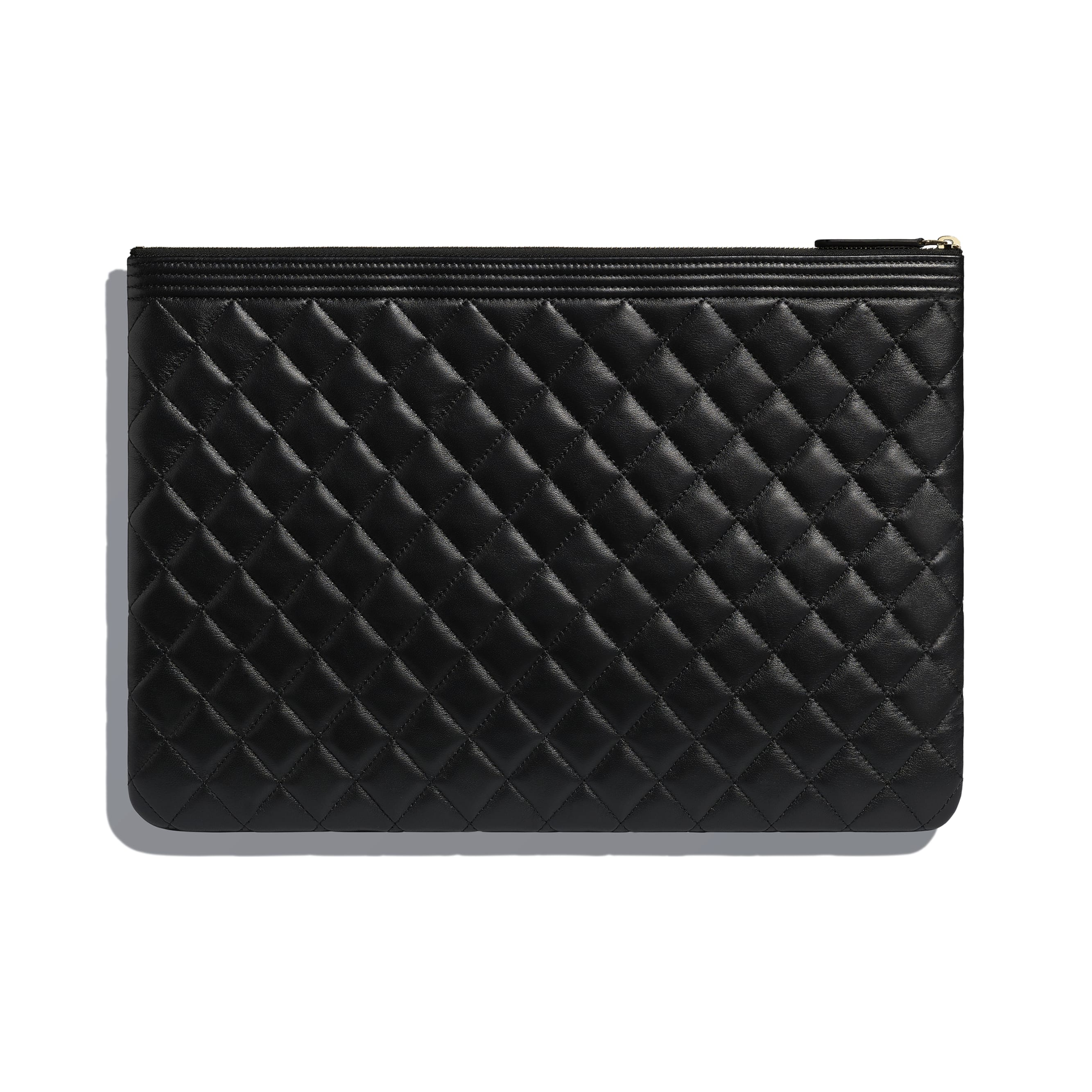 BOY CHANEL Large Pouch - Black - Lambskin - CHANEL - Alternative view - see standard sized version