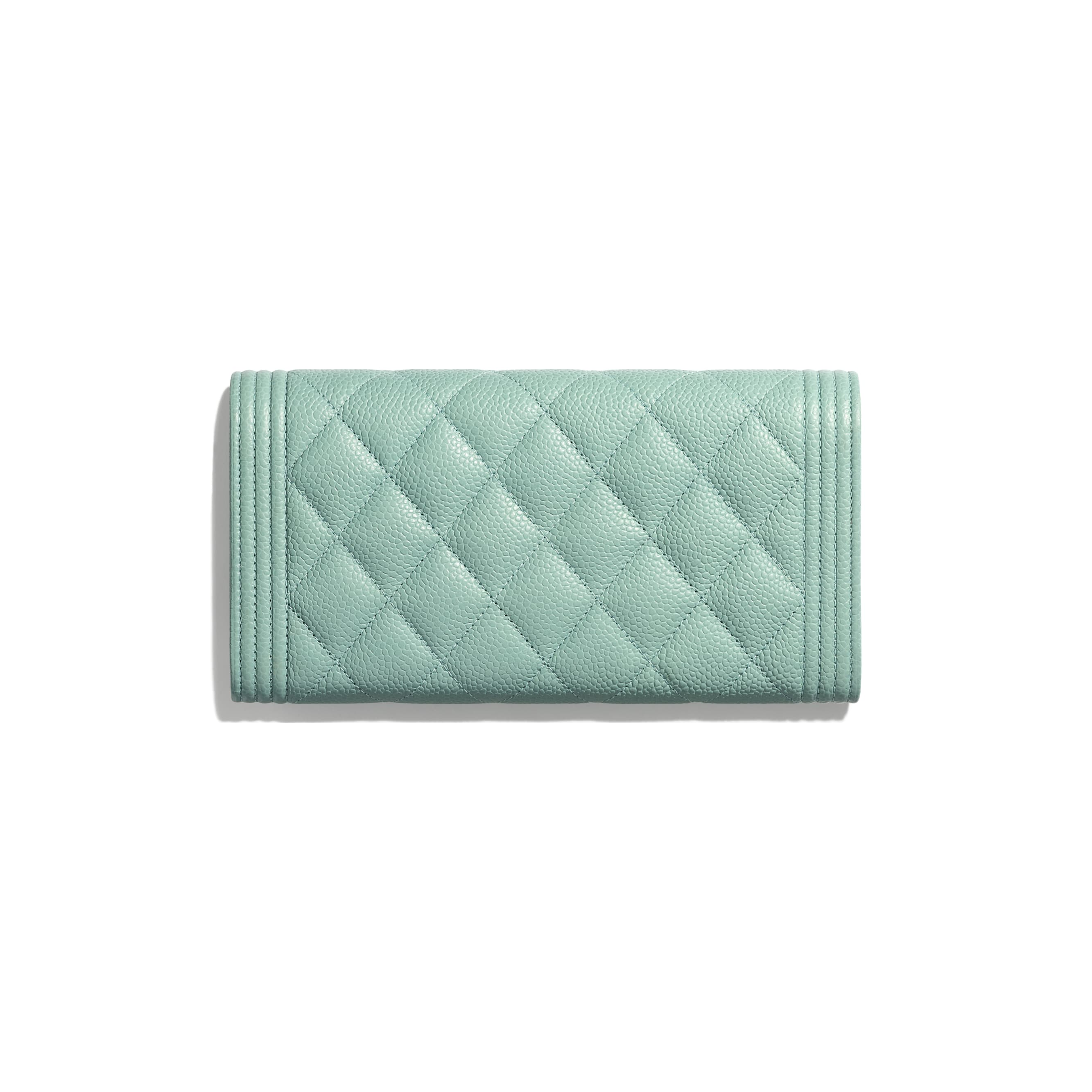 BOY CHANEL Long Flap Wallet - Blue - Grained Calfskin & Gold-Tone Metal - Alternative view - see standard sized version