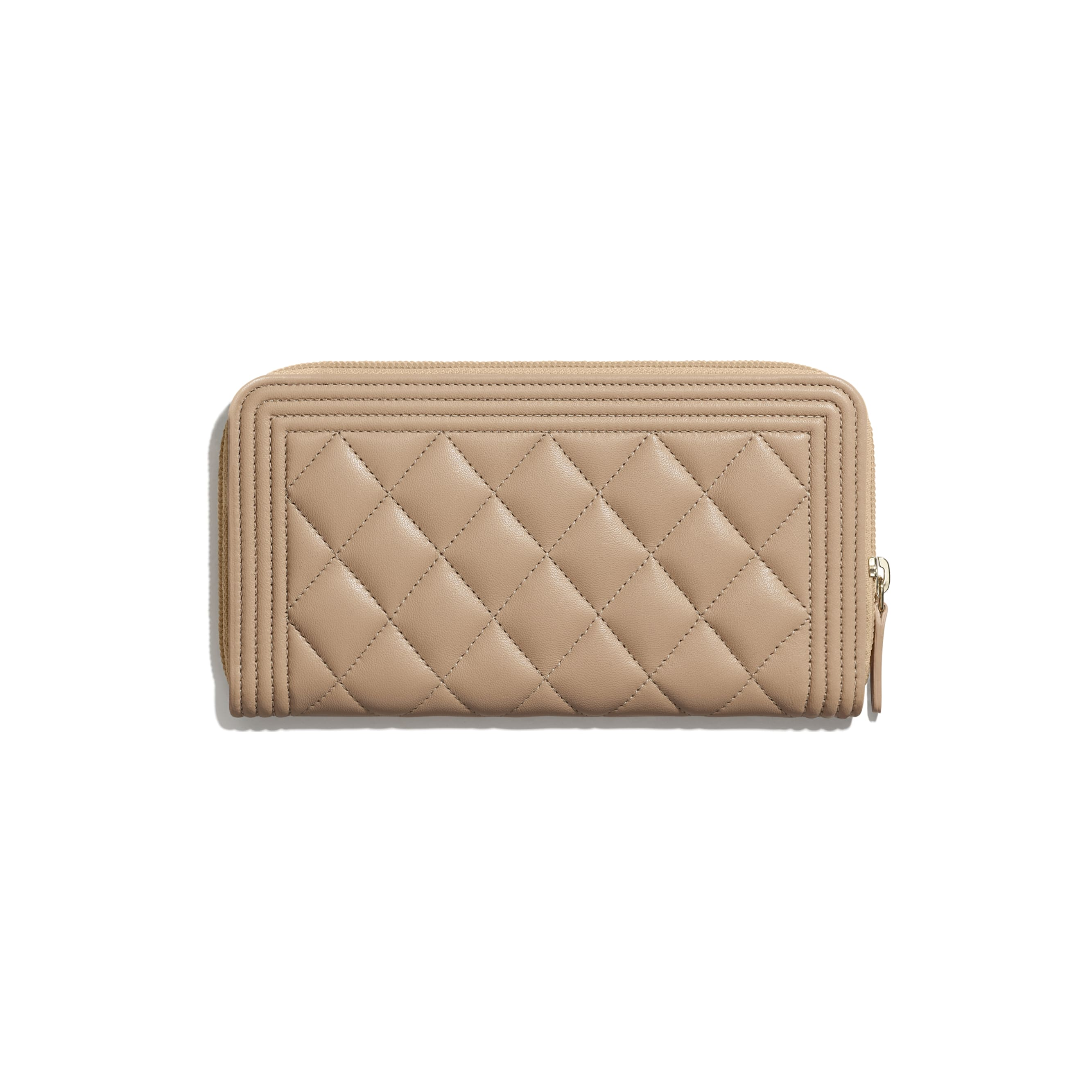 BOY CHANEL Long Zipped Wallet - Beige - Lambskin - CHANEL - Alternative view - see standard sized version