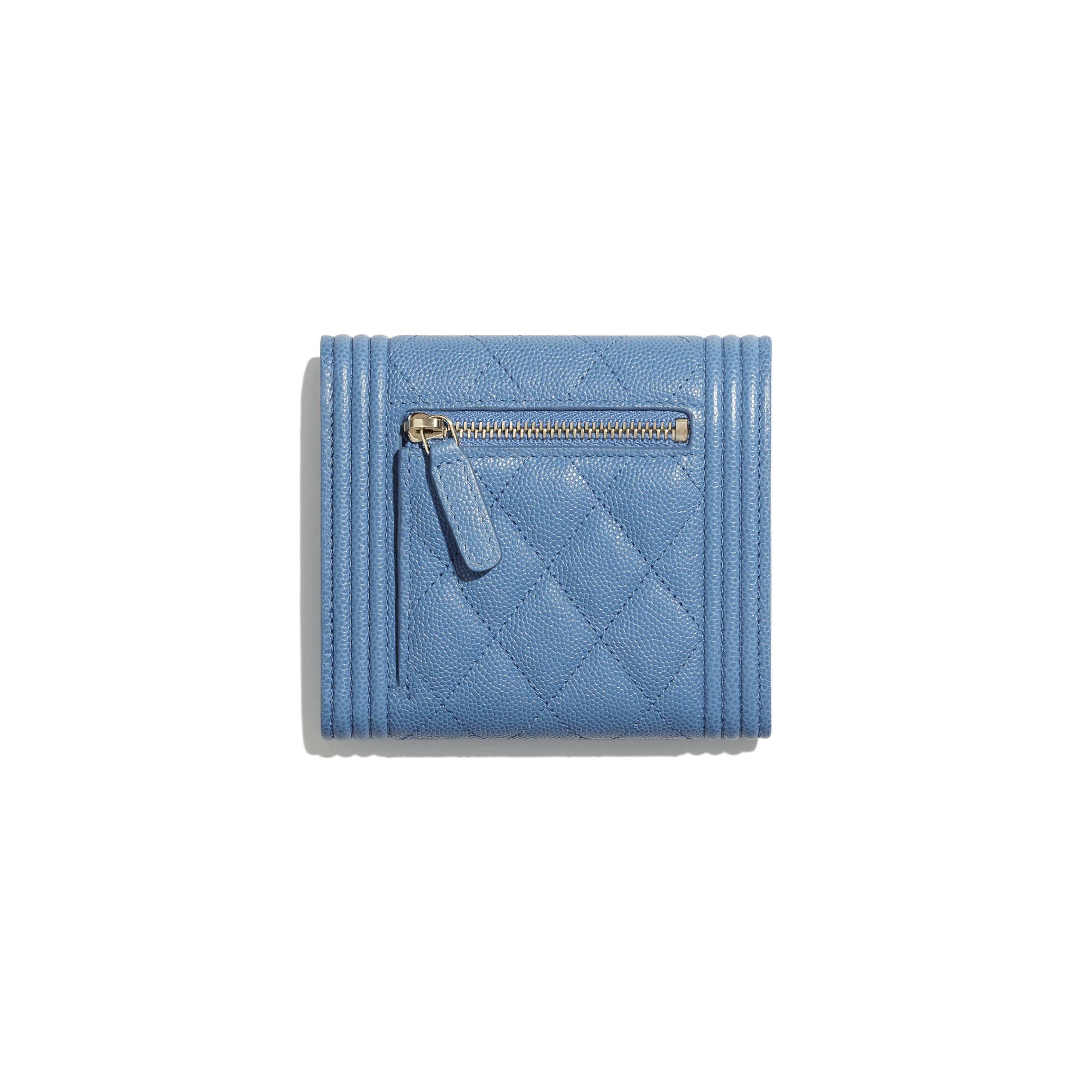 BOY CHANEL Small Flap Wallet - Blue - Grained Calfskin & Gold-Tone Metal - CHANEL - Alternative view - see standard sized version