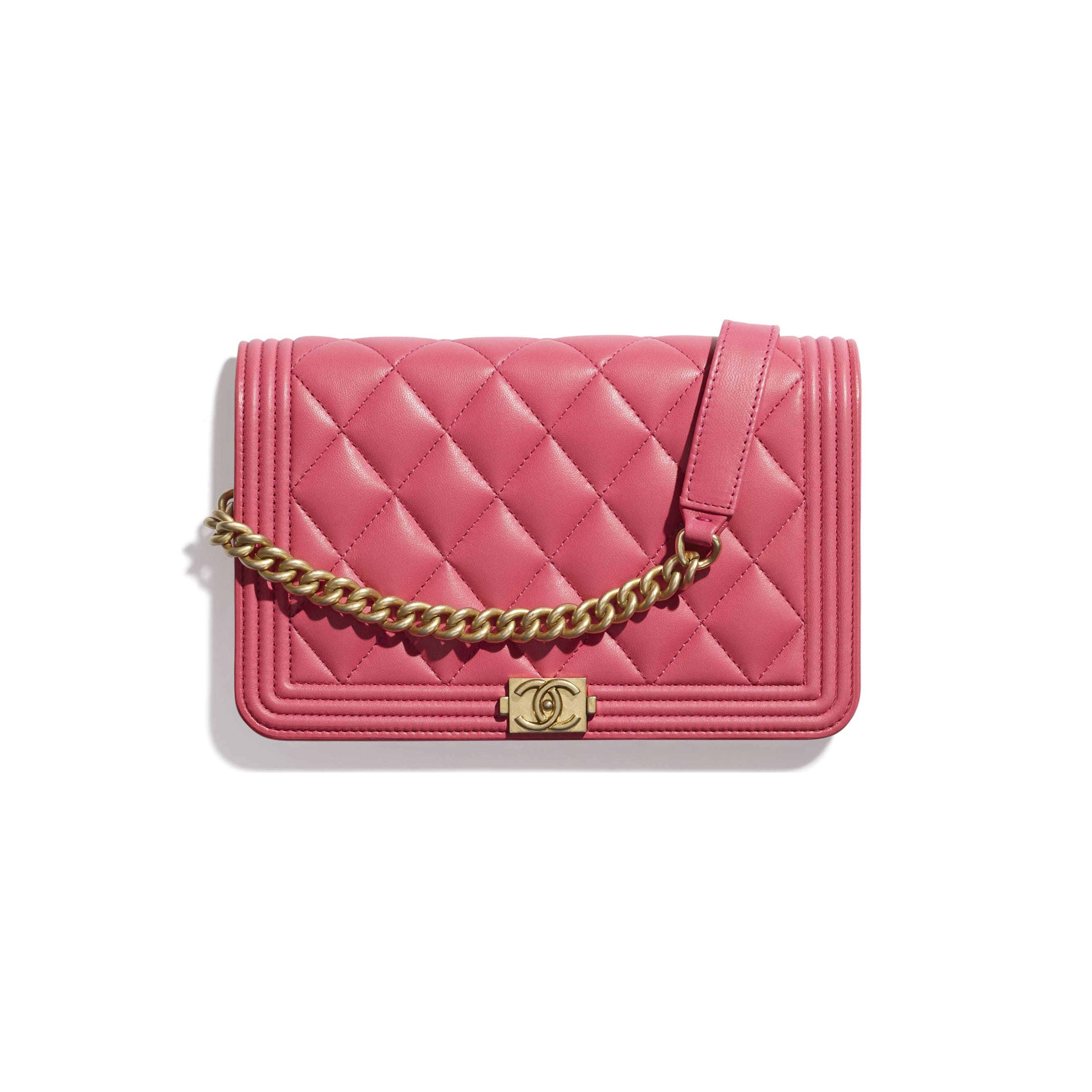 BOY CHANEL Wallet On Chain - Pink - Lambskin - CHANEL - Default view - see standard sized version