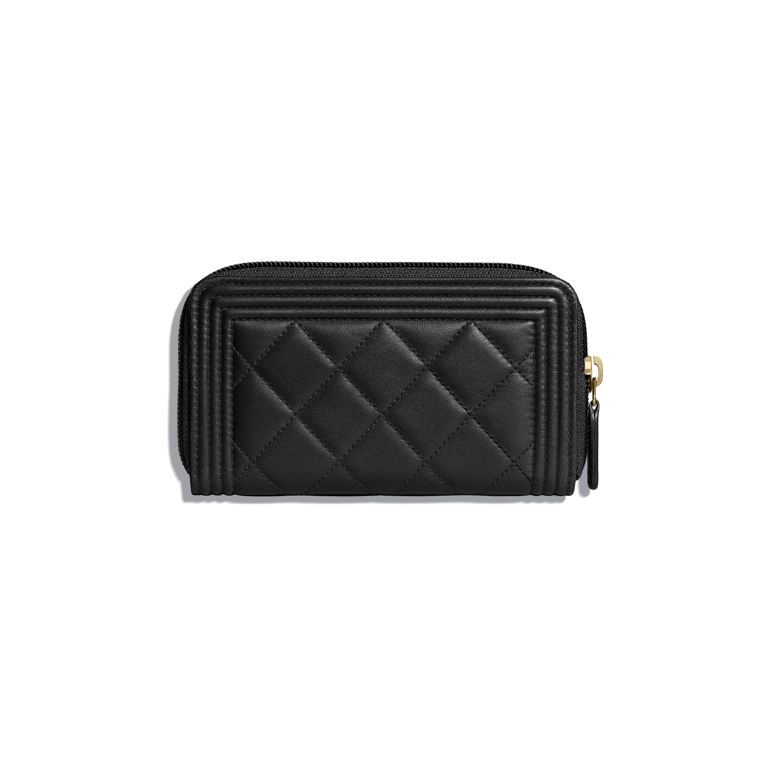 BOY CHANEL Zip Wallet - Black - Lambskin - CHANEL - Alternative view - see standard sized version