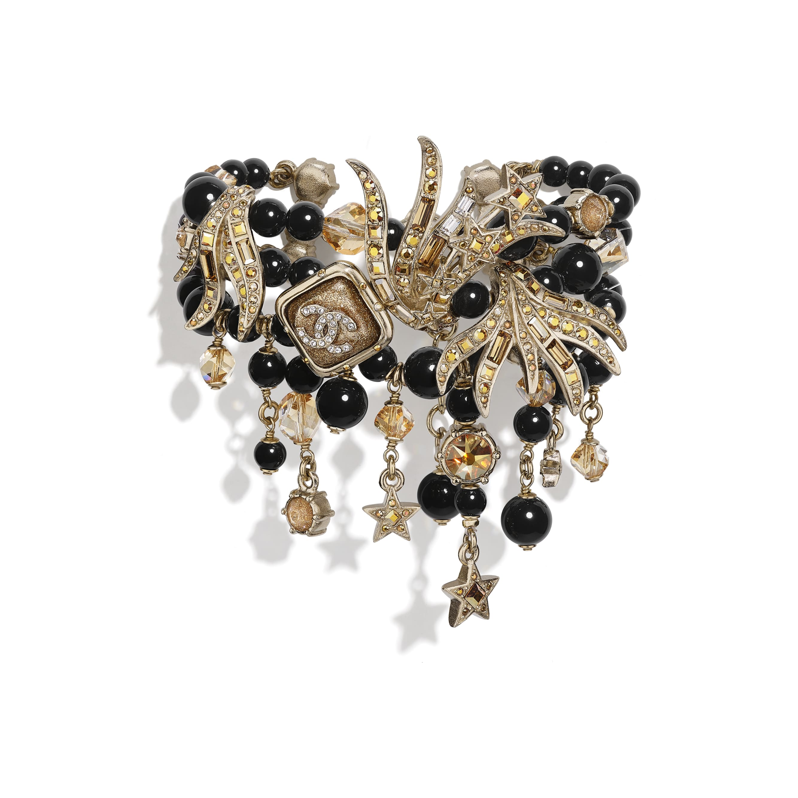 Bracelet - Gold, Black & Crystal - Metal, Glass Pearls, Glass & Strass - CHANEL - Default view - see standard sized version