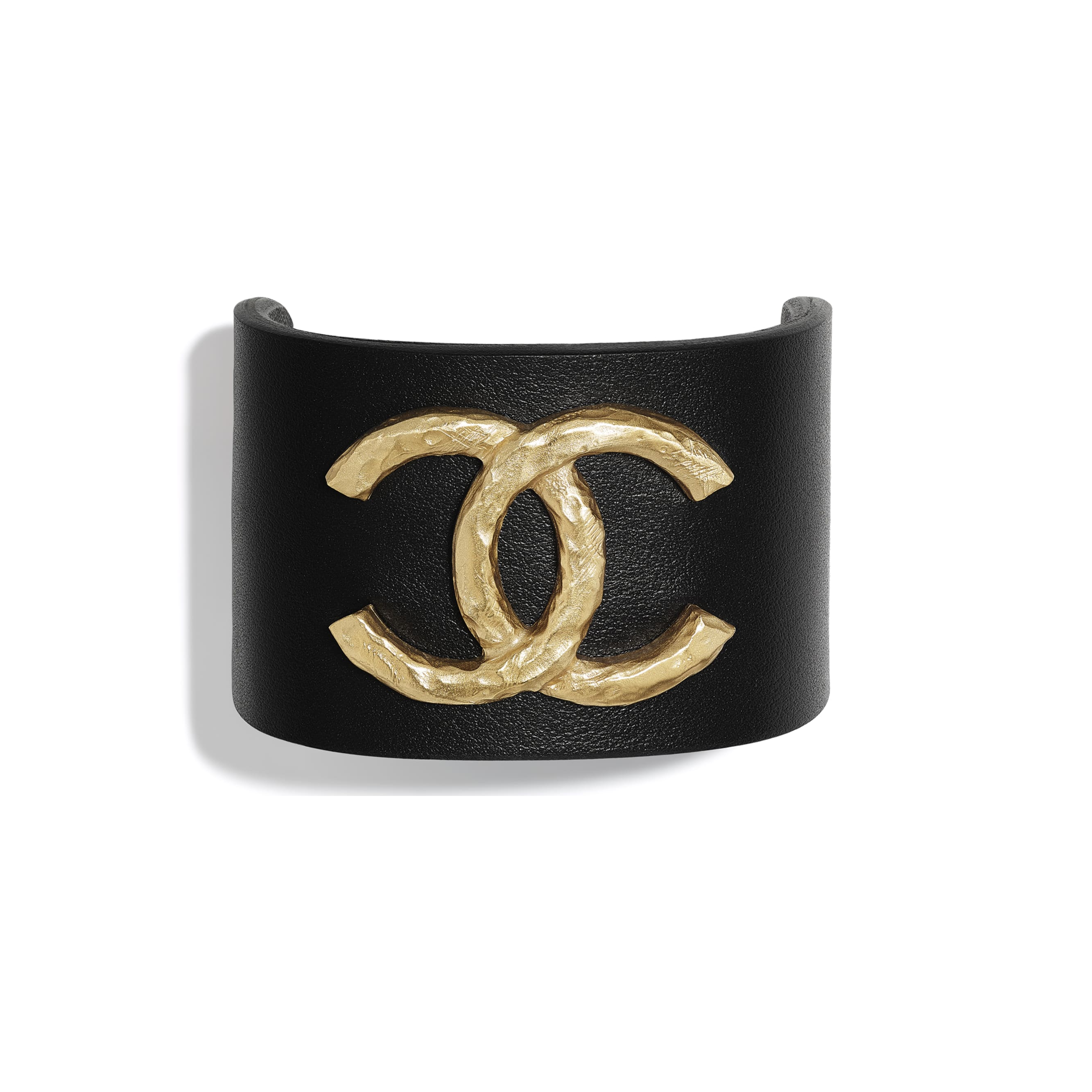 Bracelet - Gold & Black - Metal & Calfskin - Default view - see standard sized version