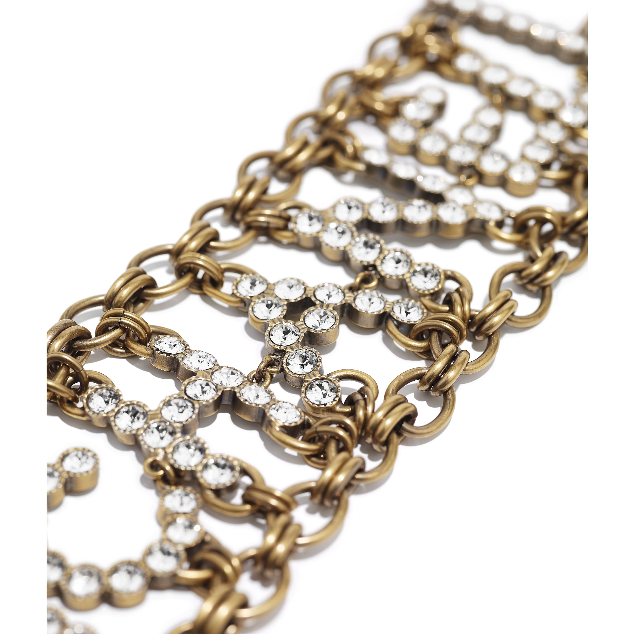 Bracelet - Gold & Crystal - Metal & Strass - CHANEL - Alternative view - see standard sized version