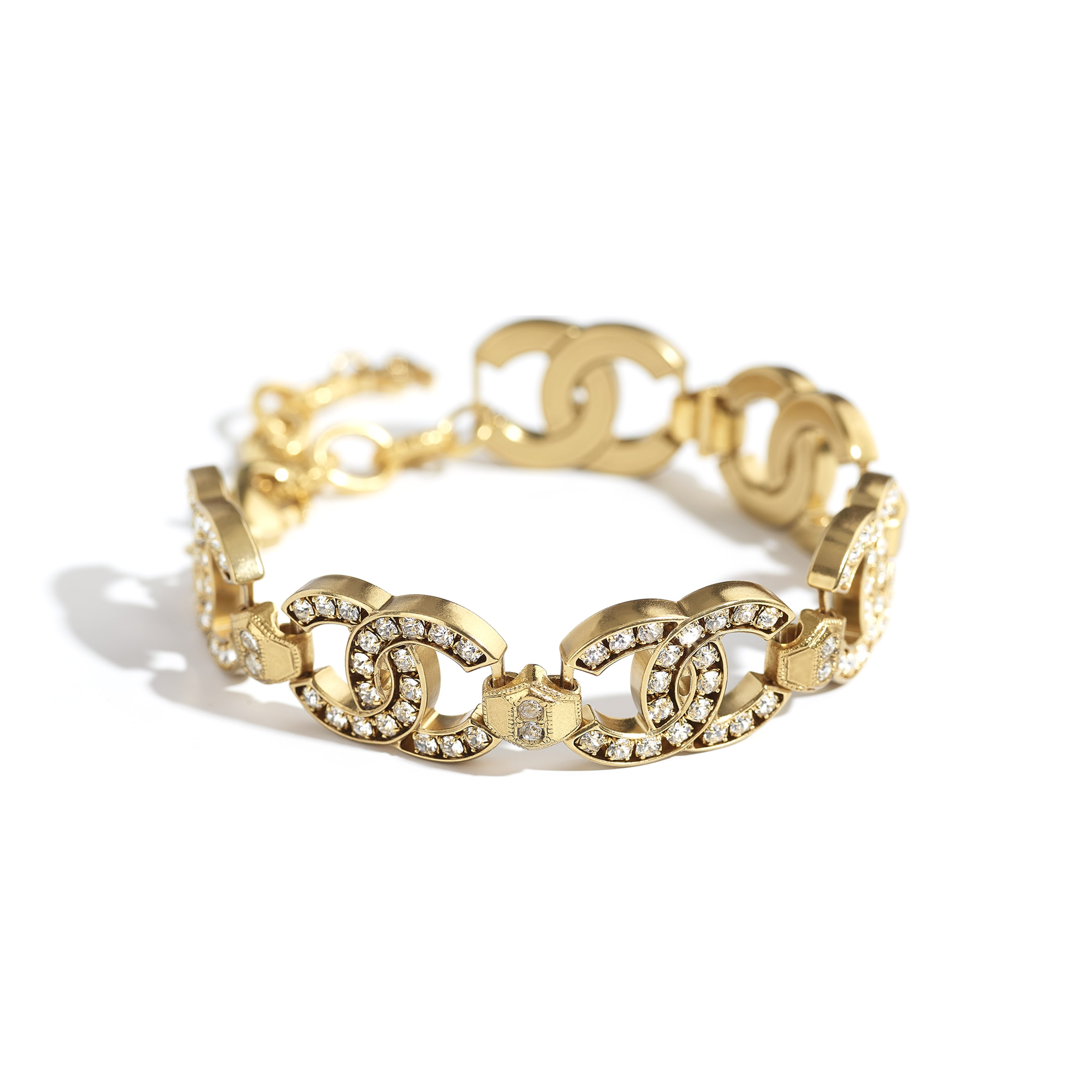 Bracelet - Gold & Crystal - Metal & Diamantés - CHANEL - Alternative view - see standard sized version