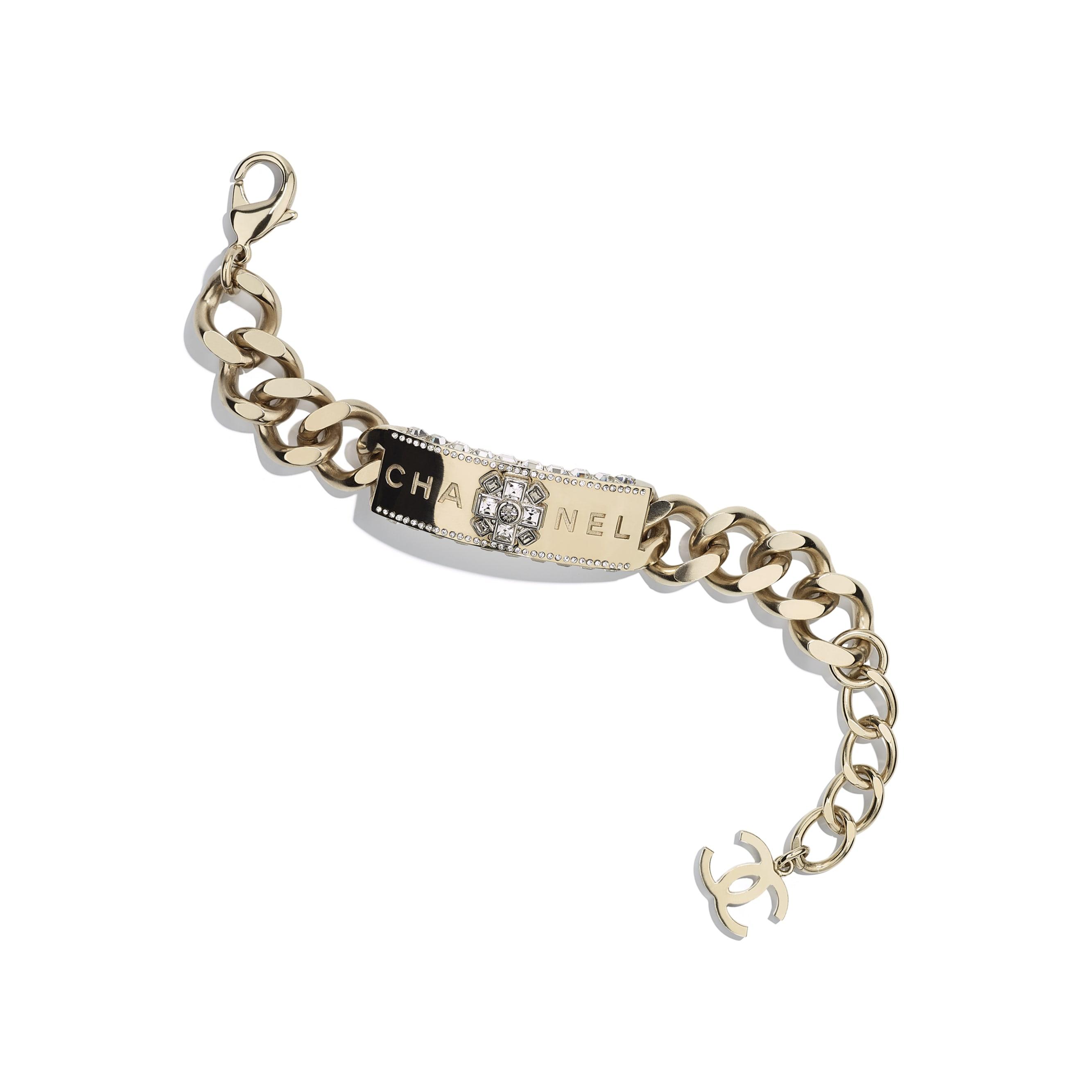 Bracelet - Gold & Crystal - Metal & Strass - CHANEL - Default view - see standard sized version