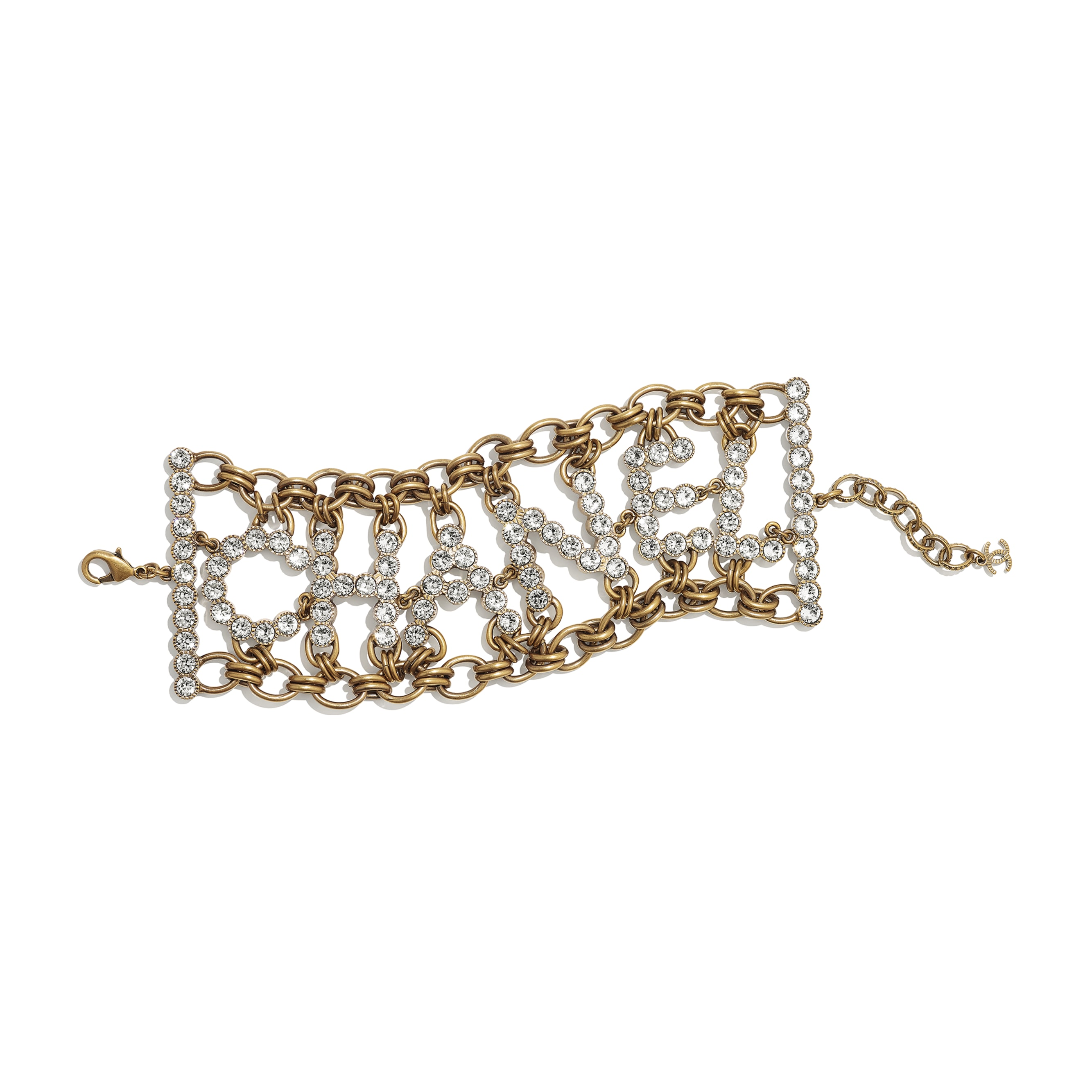 Bracelet - Gold & Crystal - Metal & Strass - CHANEL - Default view - see standard sized version