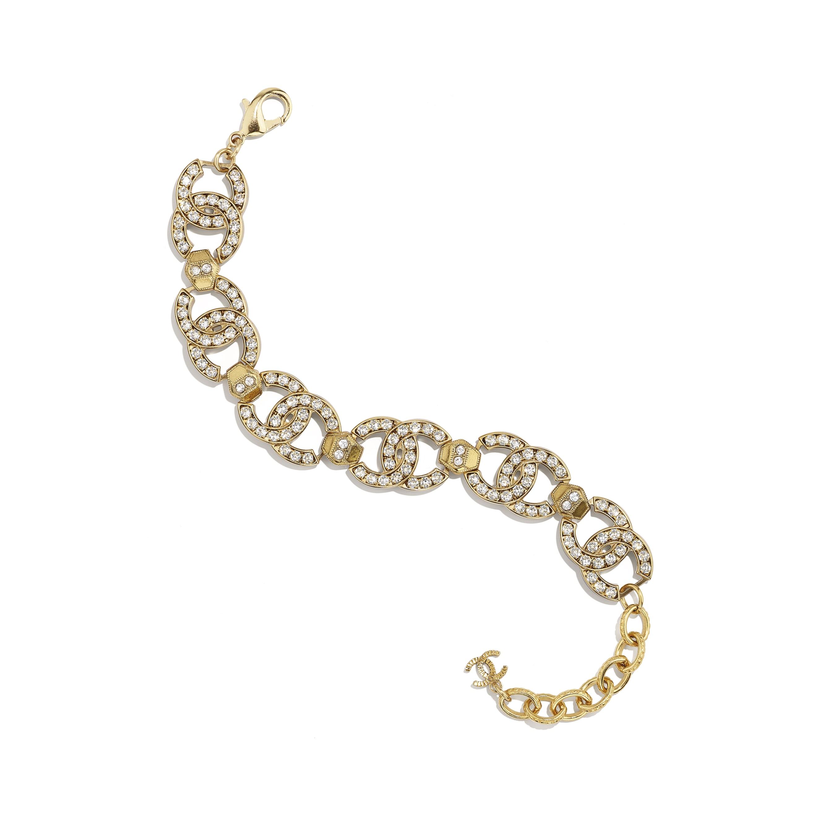 Bracciale - Oro & cristallo - Metallo & strass - CHANEL - Immagine predefinita - vedere versione standard