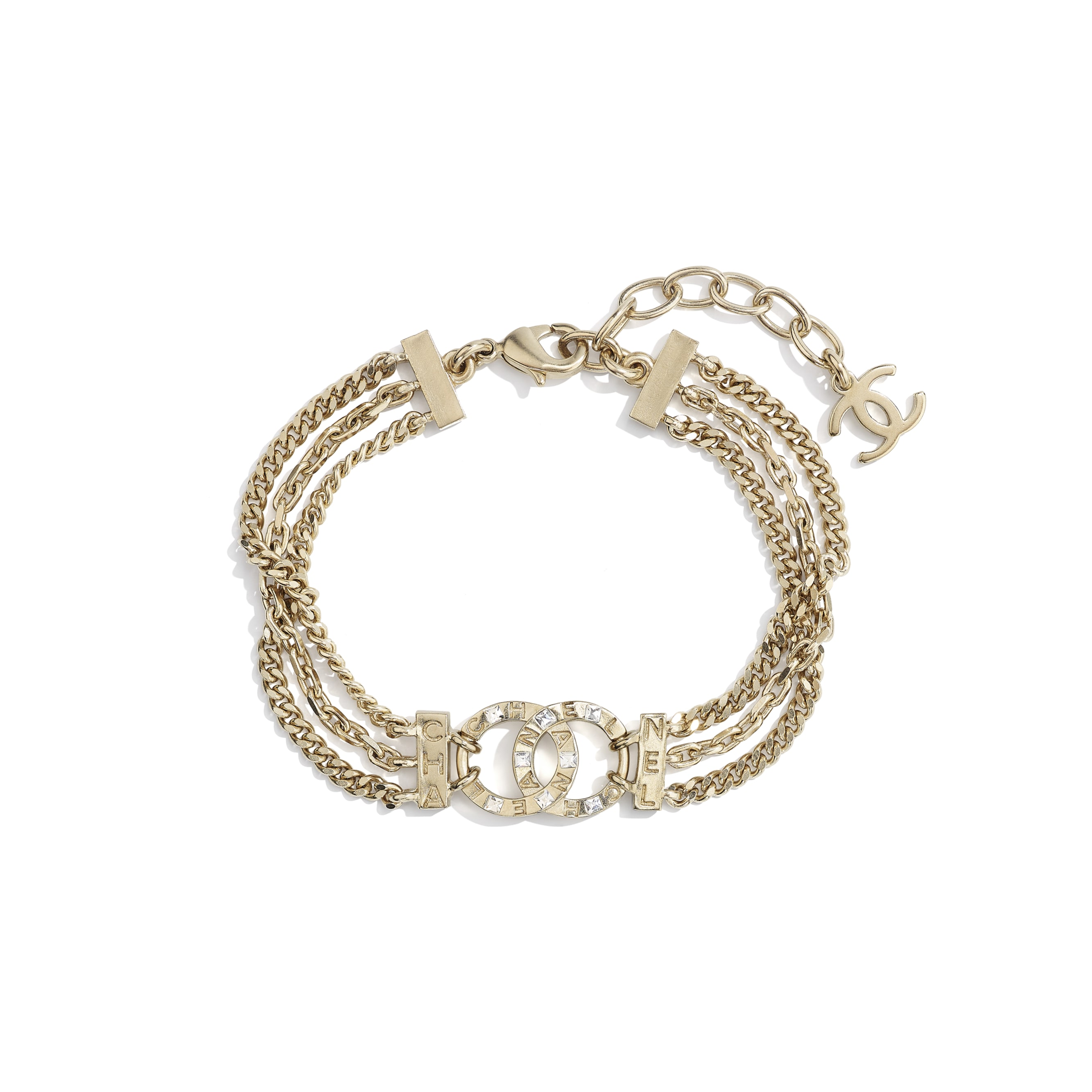 Bracelet - Gold & Crystal - Metal & Diamantés - CHANEL - Default view - see standard sized version