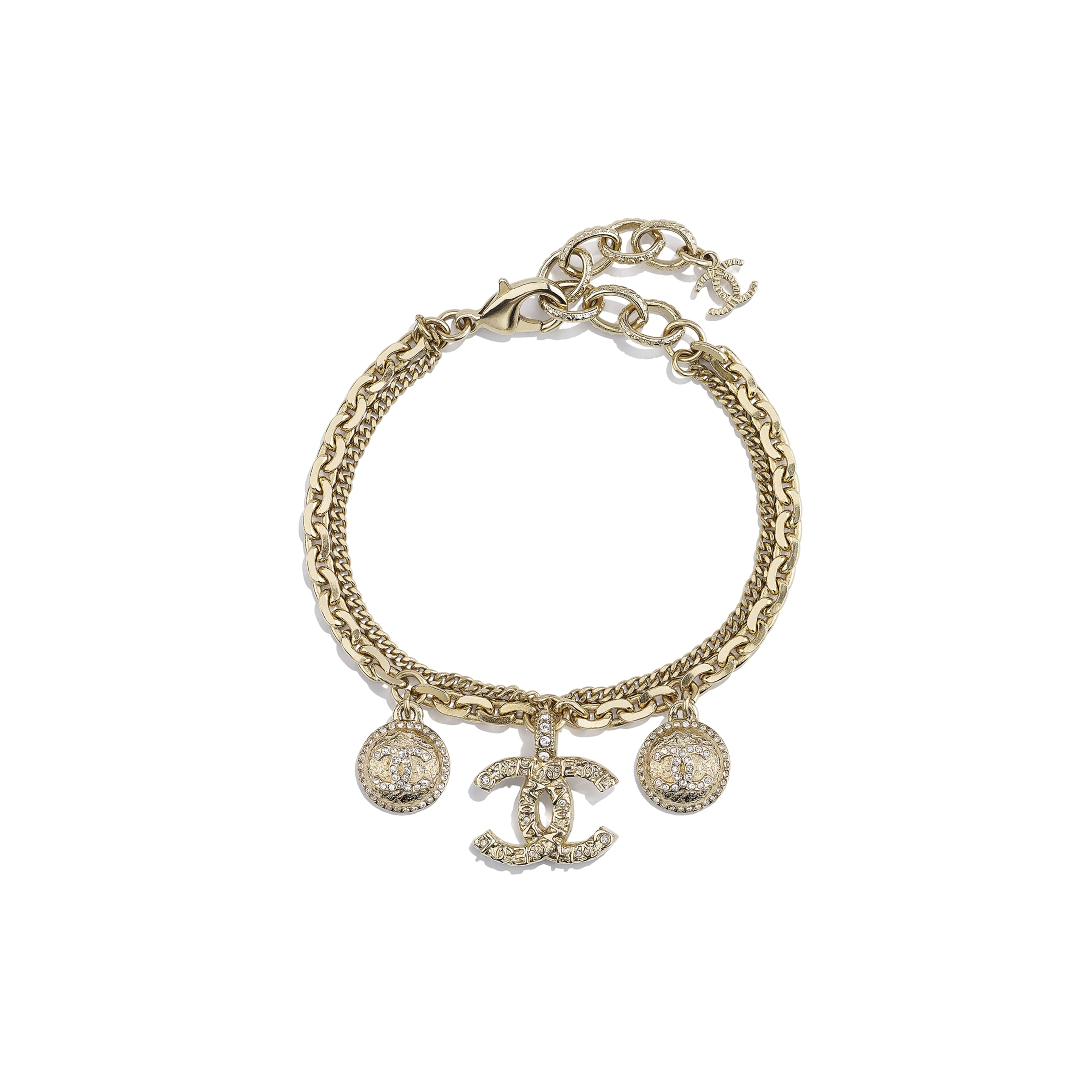 Bracelet - Gold & Crystal - Metal & Diamantés - CHANEL - Default view - see standard sized version