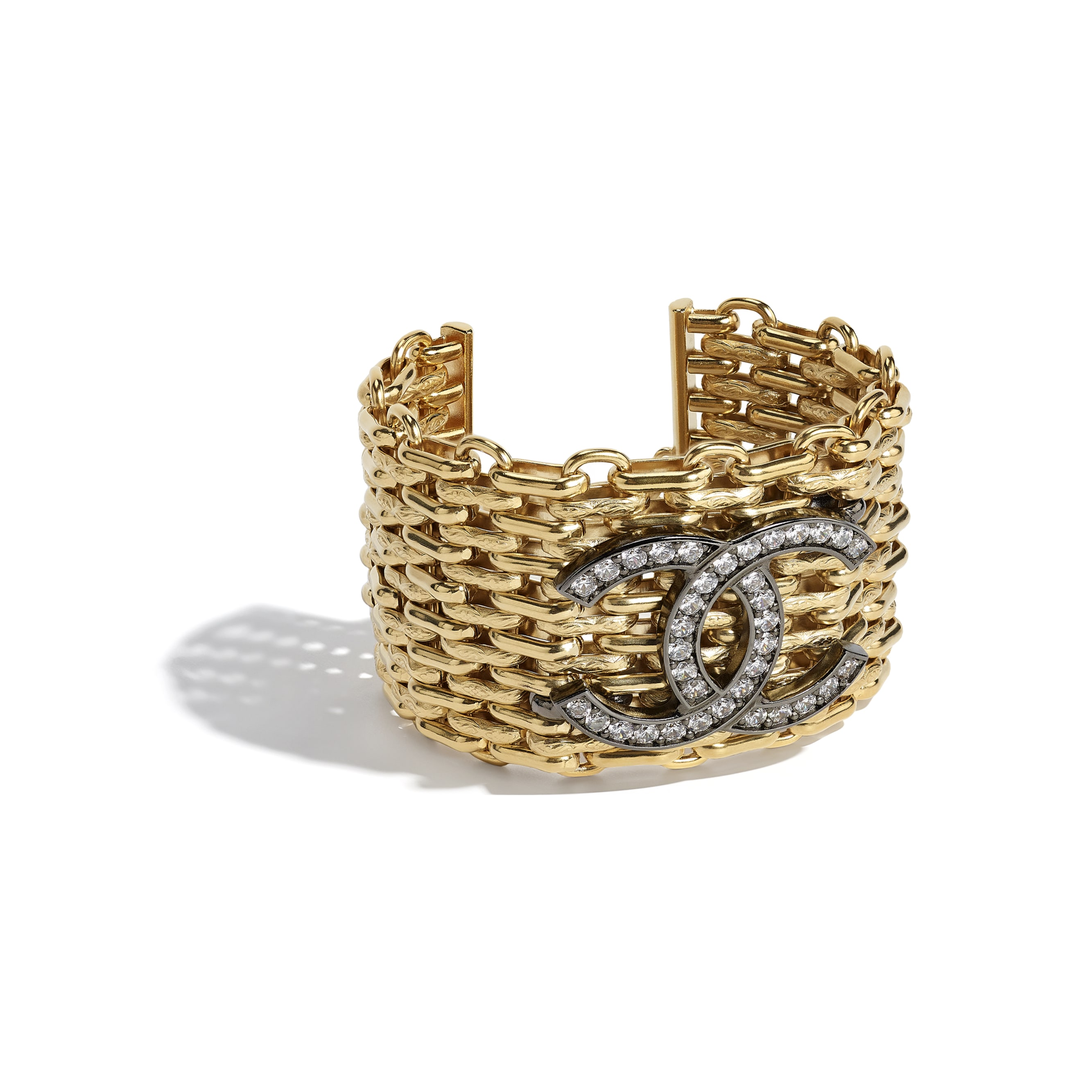 Bracelet - Gold, Ruthenium & Crystal - Metal & Strass - CHANEL - Alternative view - see standard sized version
