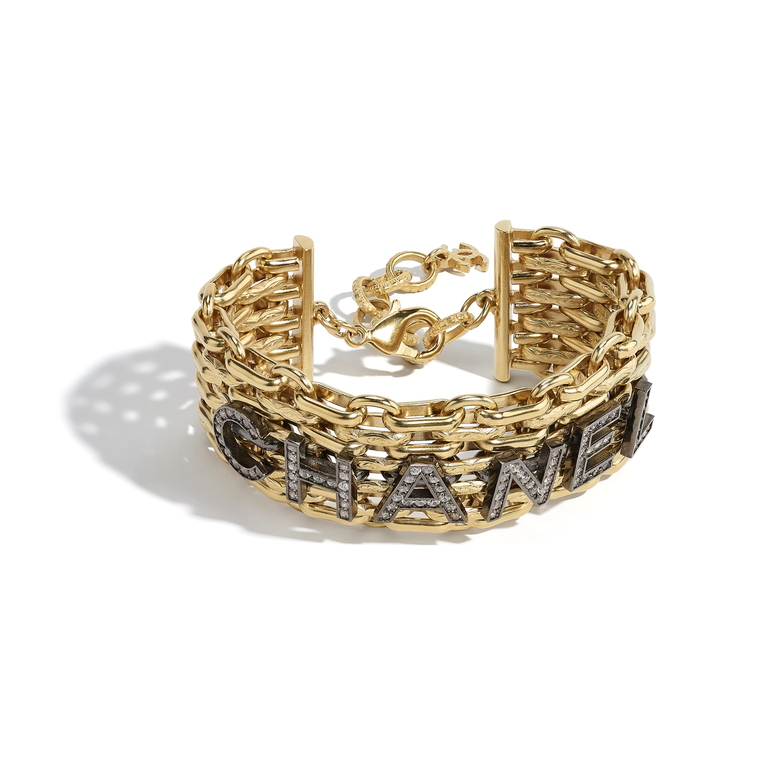 Bracelet - Gold, Ruthenium & Crystal - Metal & Diamantés - CHANEL - Alternative view - see standard sized version