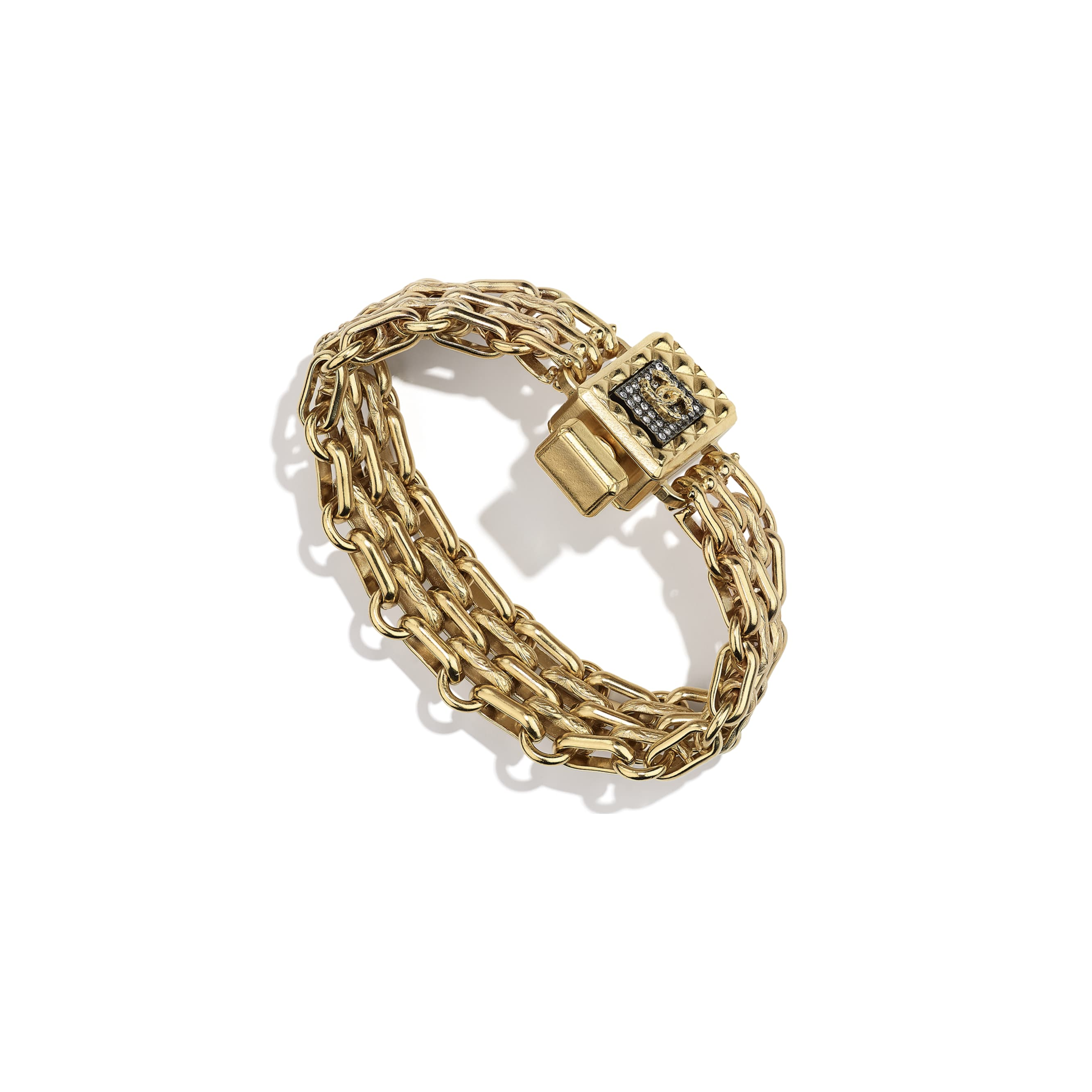 Bracelet - Gold, Ruthenium & Crystal - Metal & Diamantés - CHANEL - Default view - see standard sized version