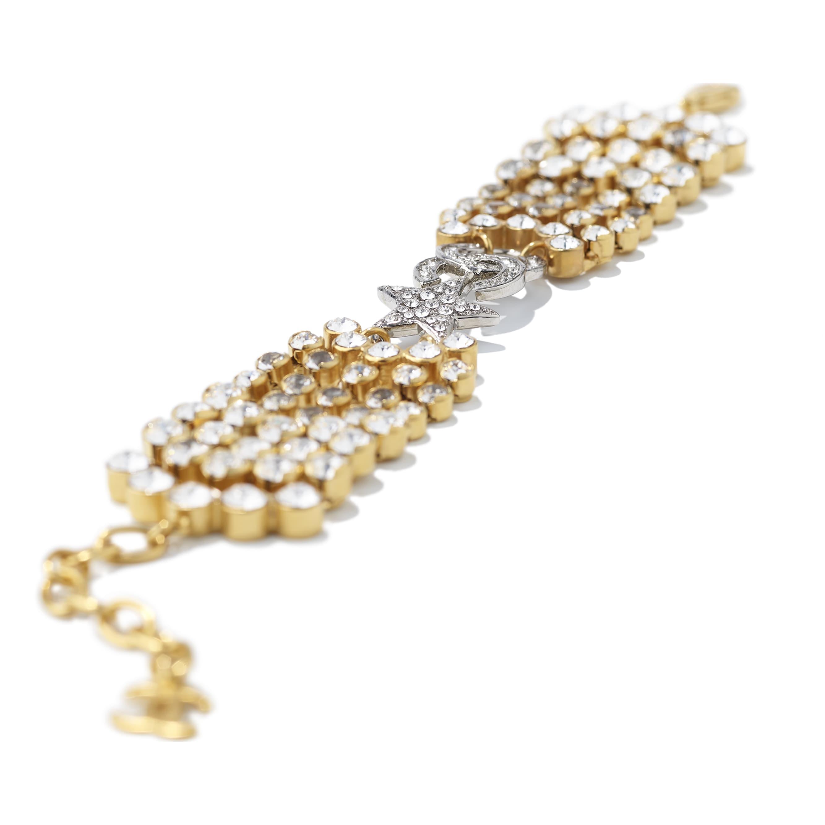 Bracciale - Oro, argento & cristallo - Metallo & strass - CHANEL - Immagine diversa - vedere versione standard