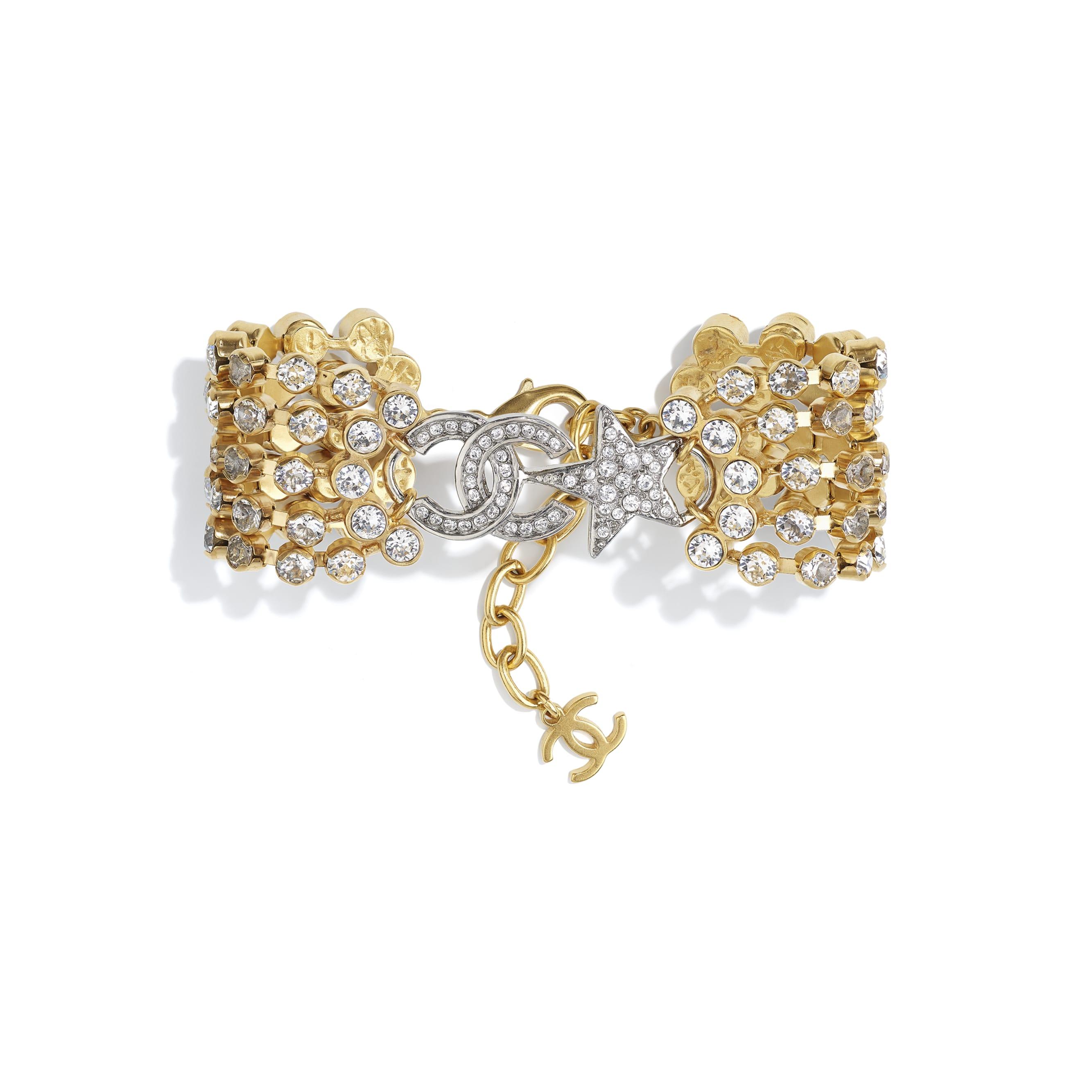 Bracciale - Oro, argento & cristallo - Metallo & strass - CHANEL - Immagine predefinita - vedere versione standard