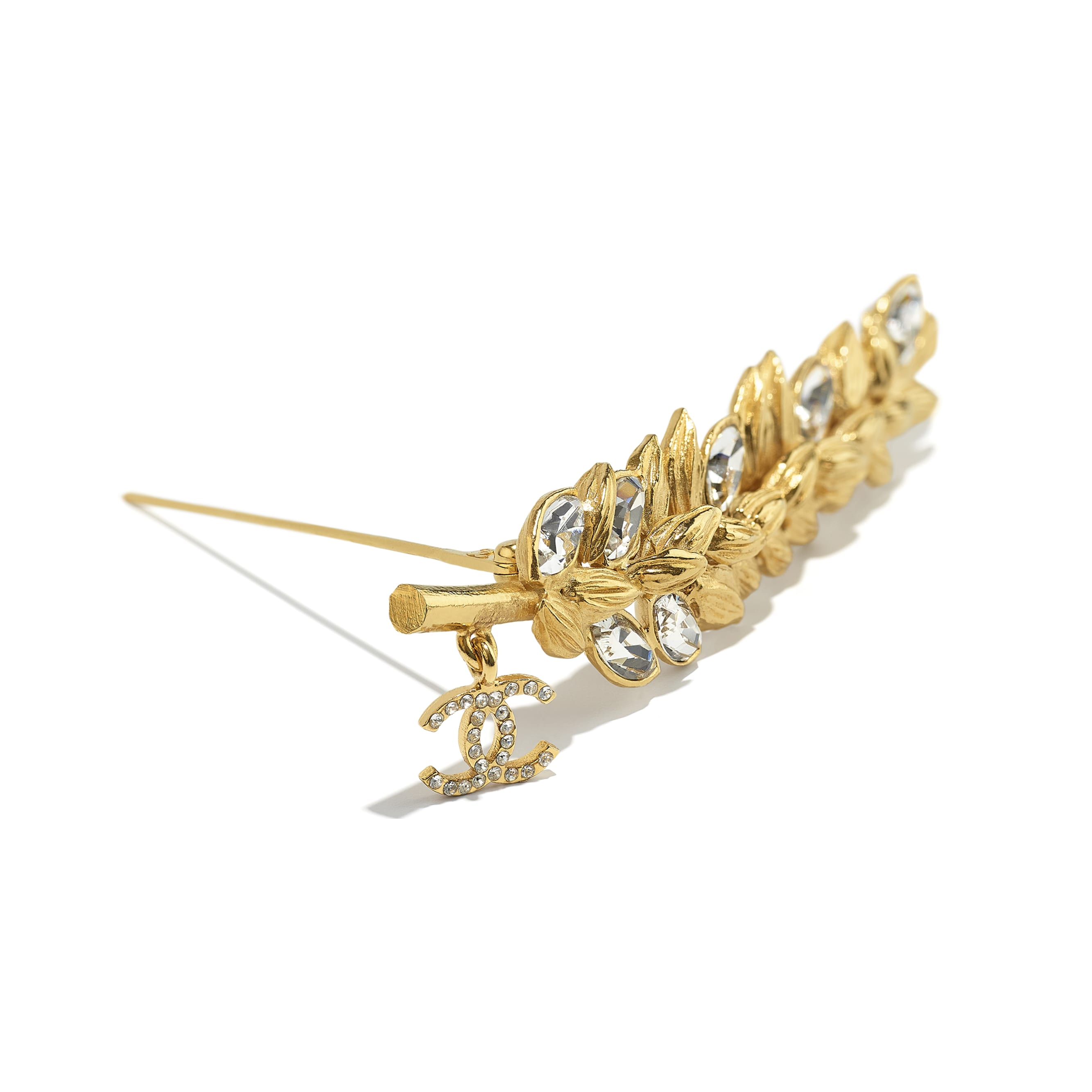 Brooch - Gold & Crystal - Metal & Diamantés - CHANEL - Alternative view - see standard sized version