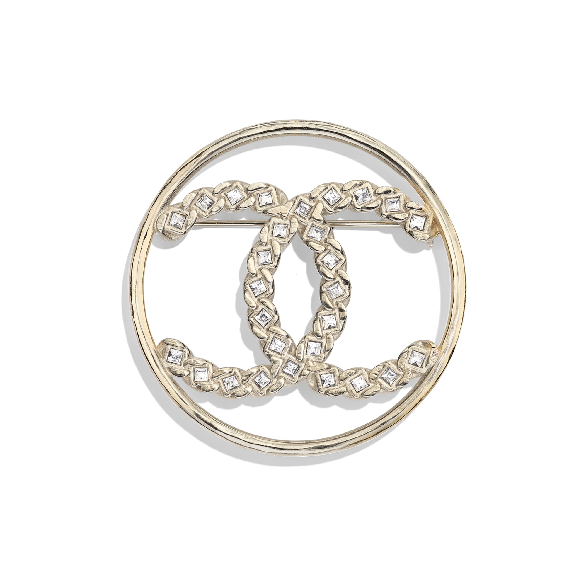 Brooch - Gold & Crystal - Metal & Strass - Default view - see standard sized version