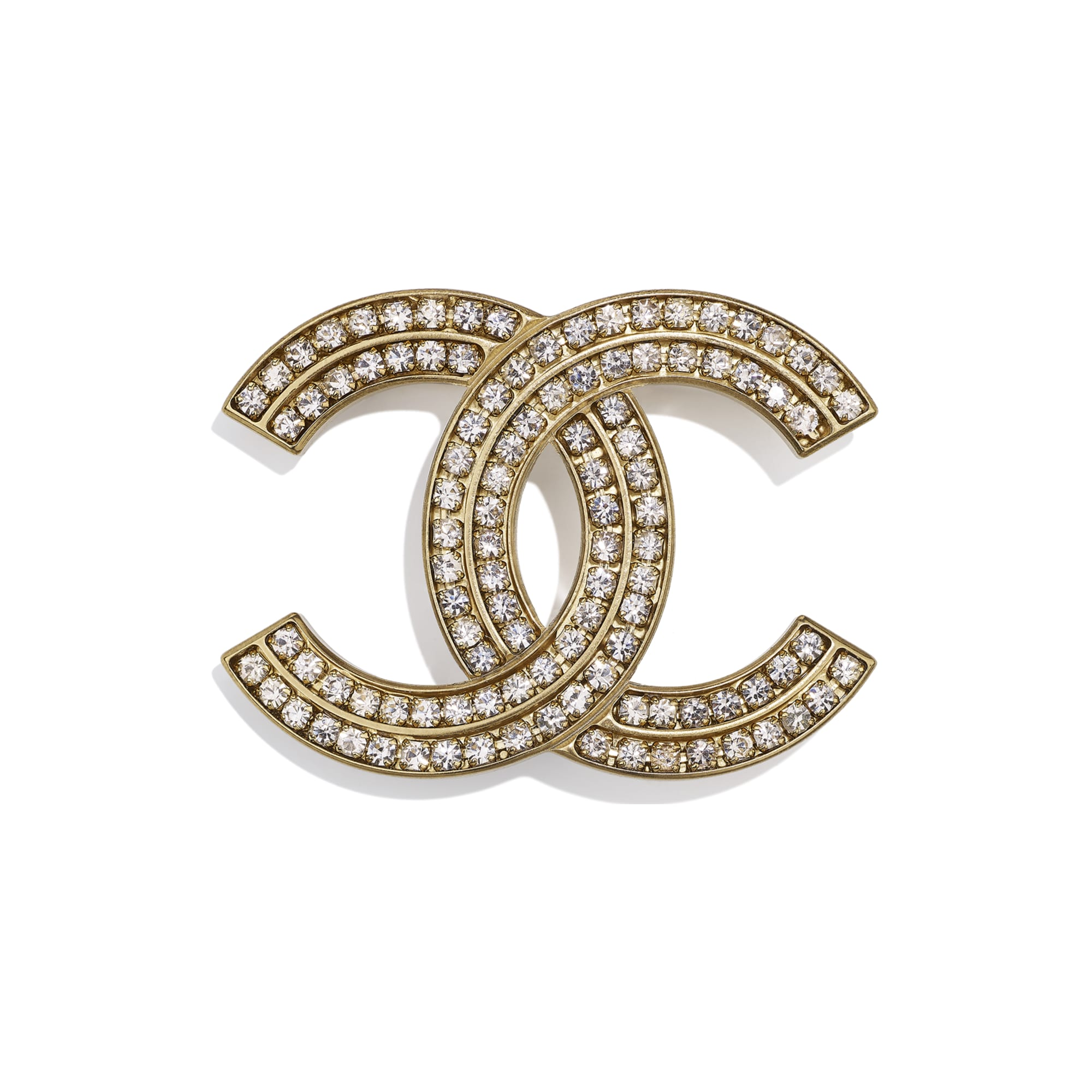 Brooch - Gold & Crystal - Metal & Diamantés - CHANEL - Default view - see standard sized version