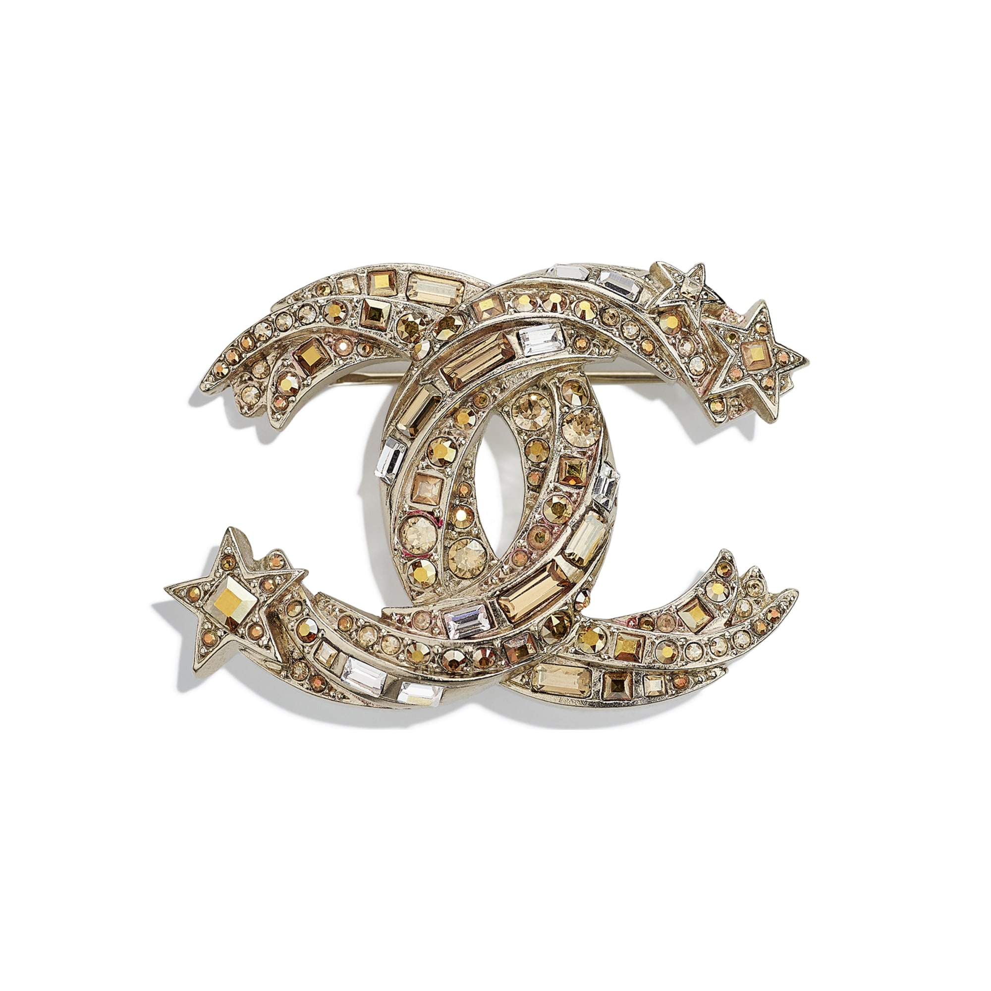 Brooch - Gold & Crystal - Metal & Strass - CHANEL - Default view - see standard sized version