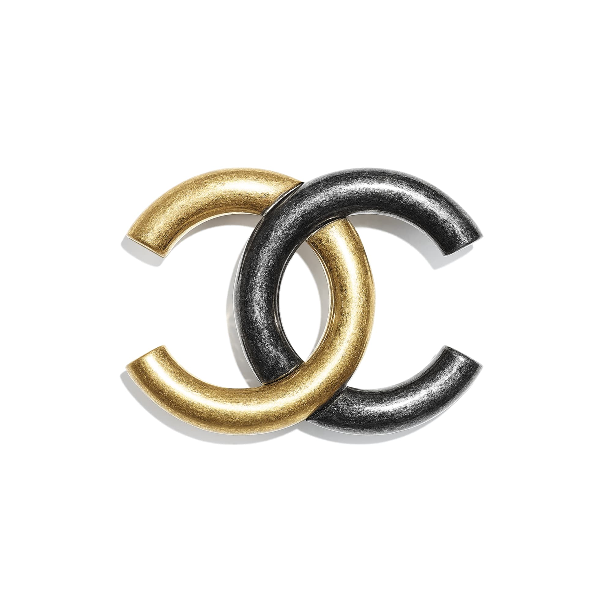 Brooch - Gold & Ruthenium - Metal - CHANEL - Default view - see standard sized version