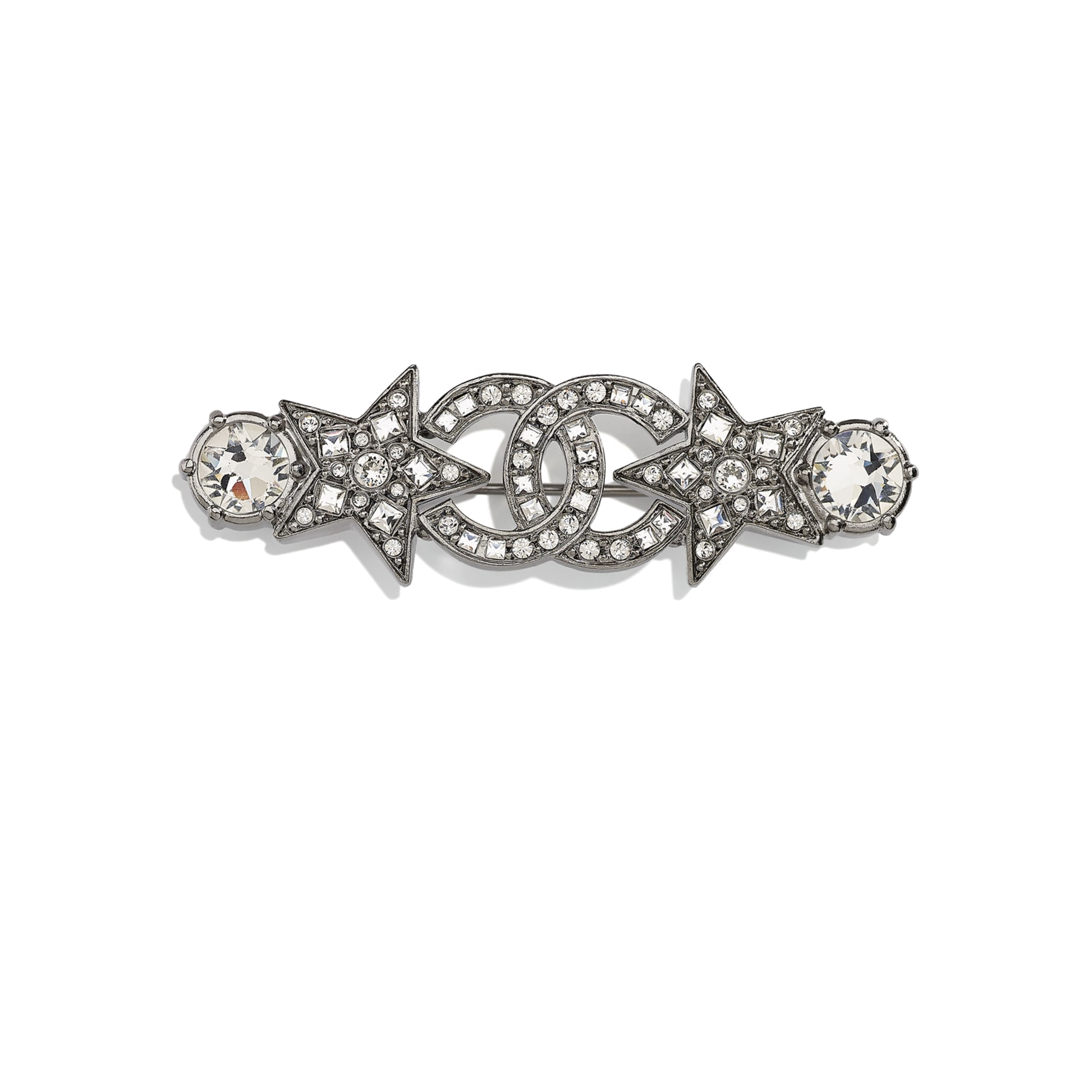Brooch - Ruthenium & Crystal - Metal & Diamantés - CHANEL - Default view - see standard sized version