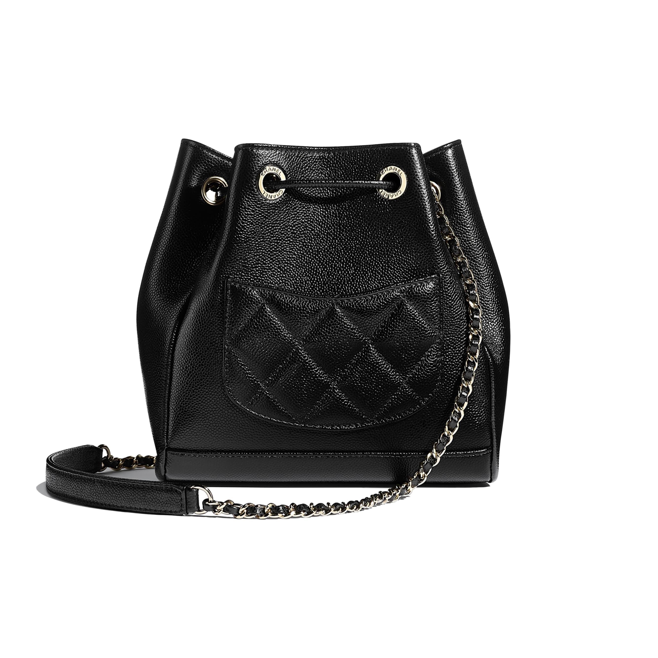 Bucket Bag - Black - Grained Calfskin & Gold-Tone Metal - CHANEL - Alternative view - see standard sized version