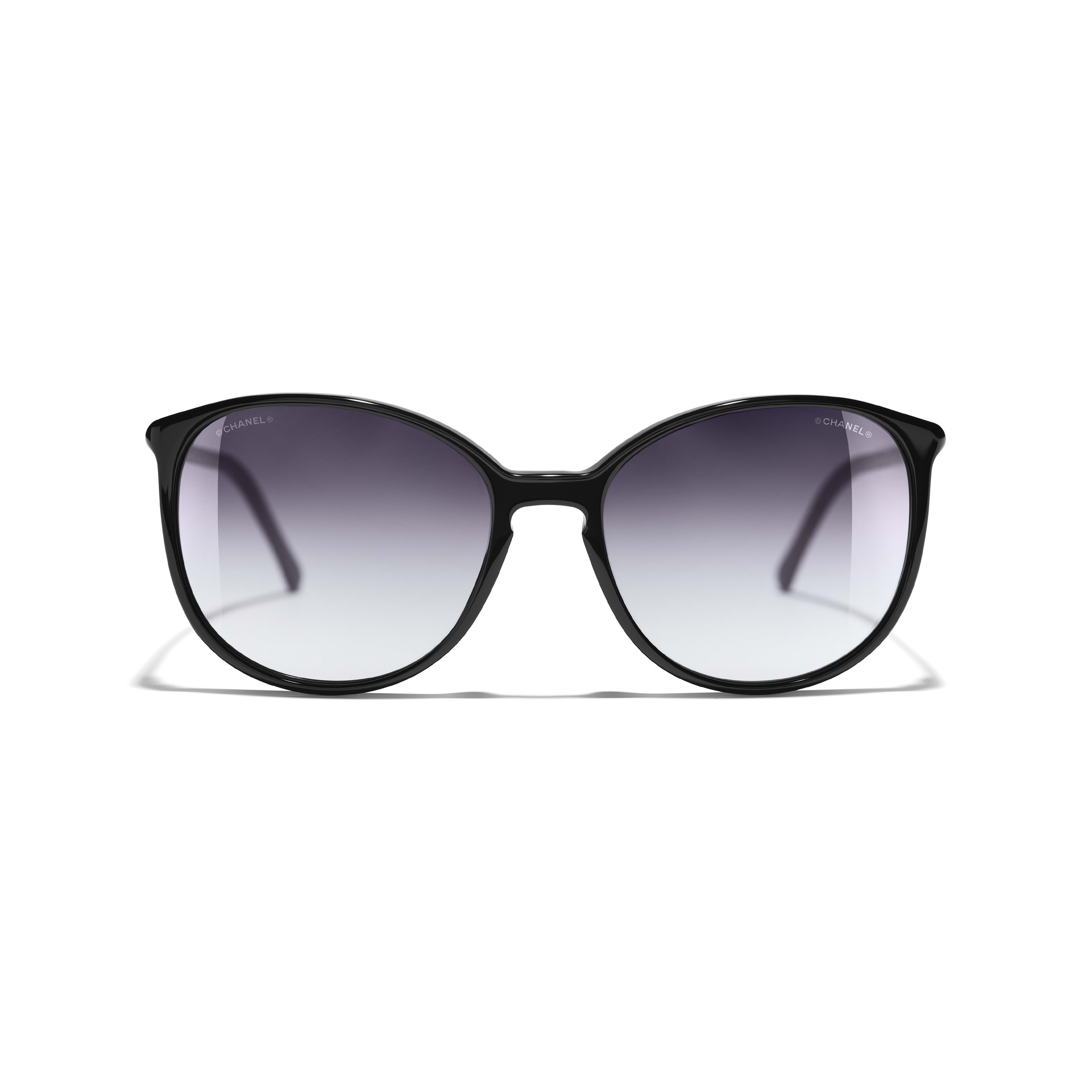 Butterfly Sunglasses - Black - Acetate - CHANEL - Alternative view - see standard sized version
