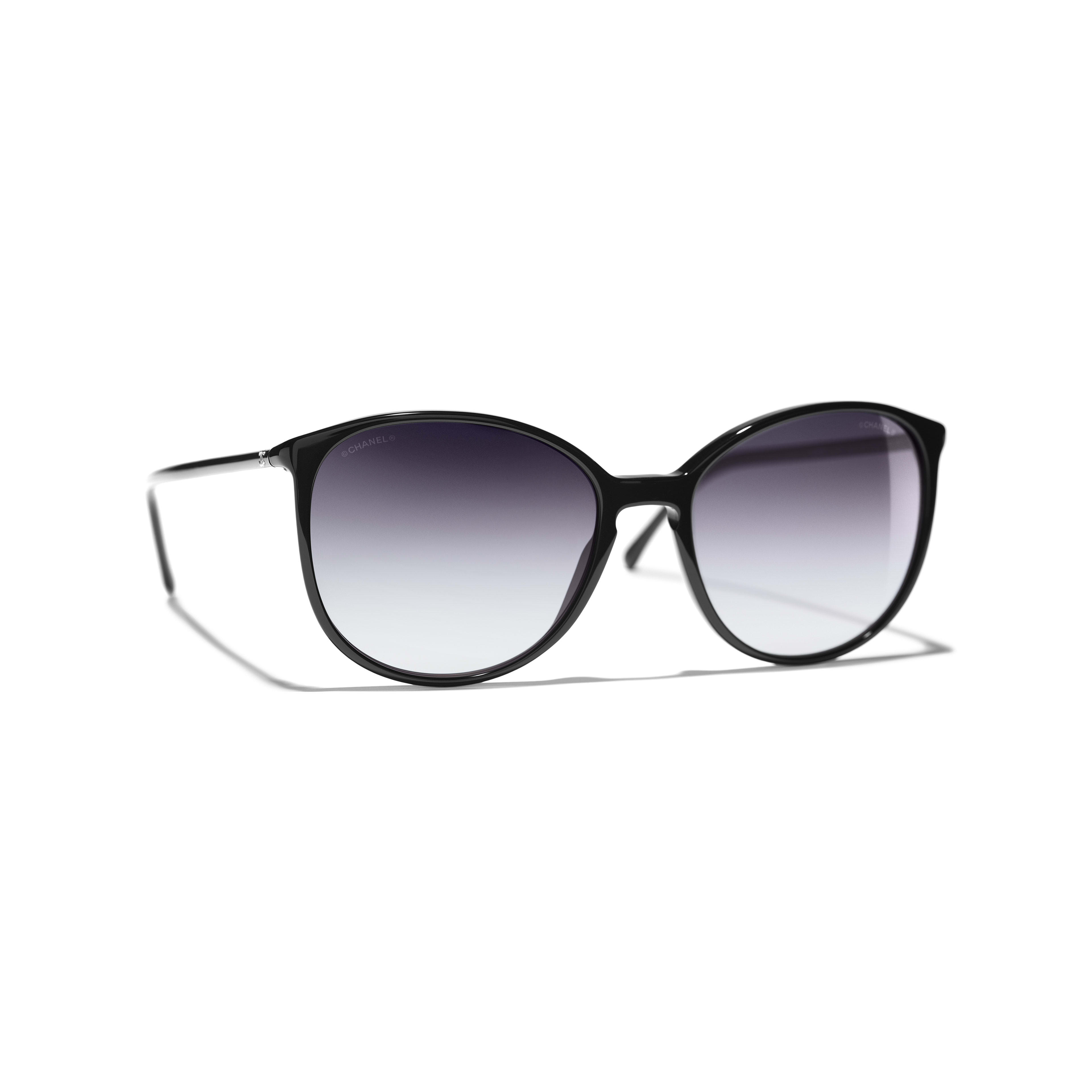 Butterfly Sunglasses - Black - Acetate - CHANEL - Default view - see standard sized version