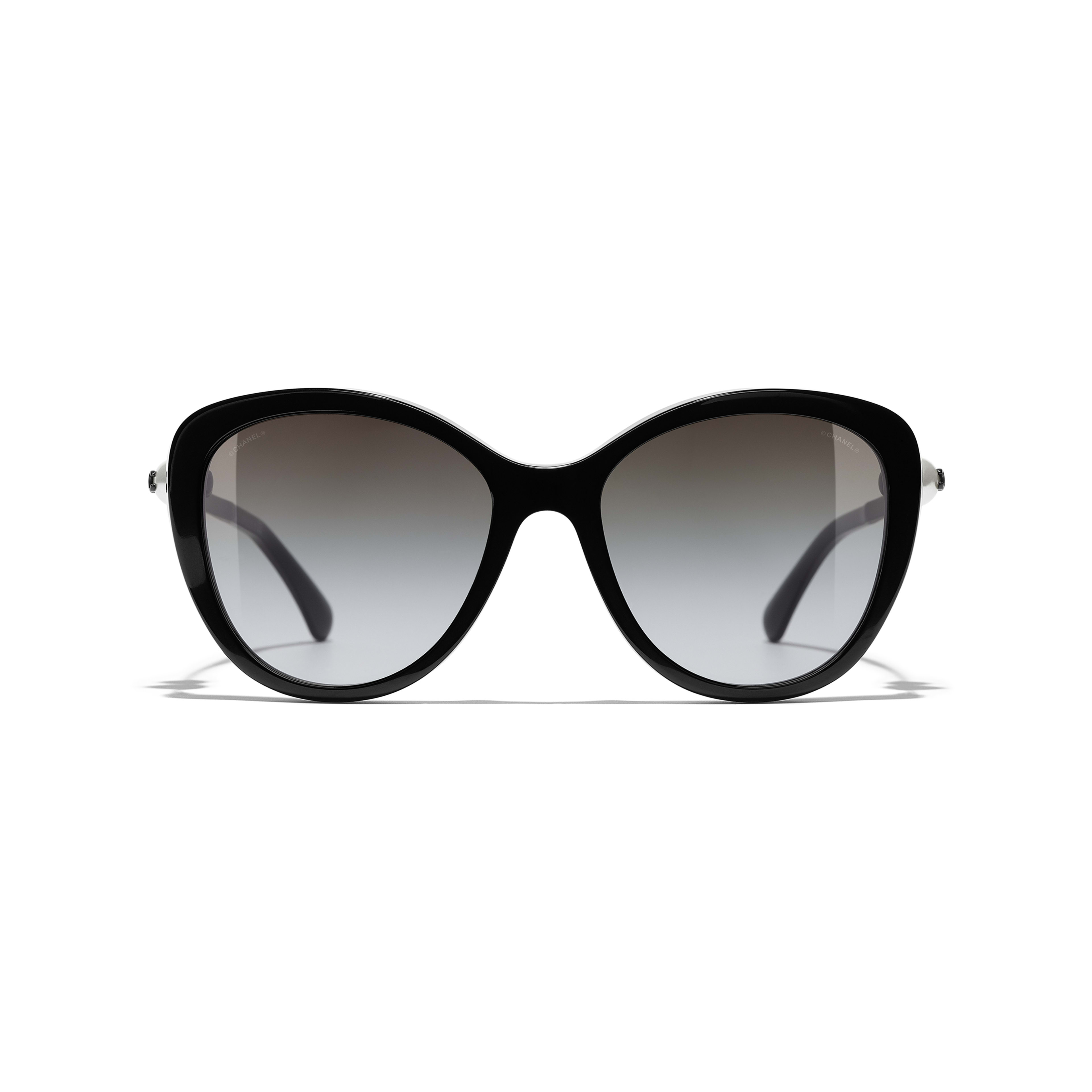 Butterfly Sunglasses - Black - Acetate & Imitation Pearls - CHANEL - Alternative view - see standard sized version