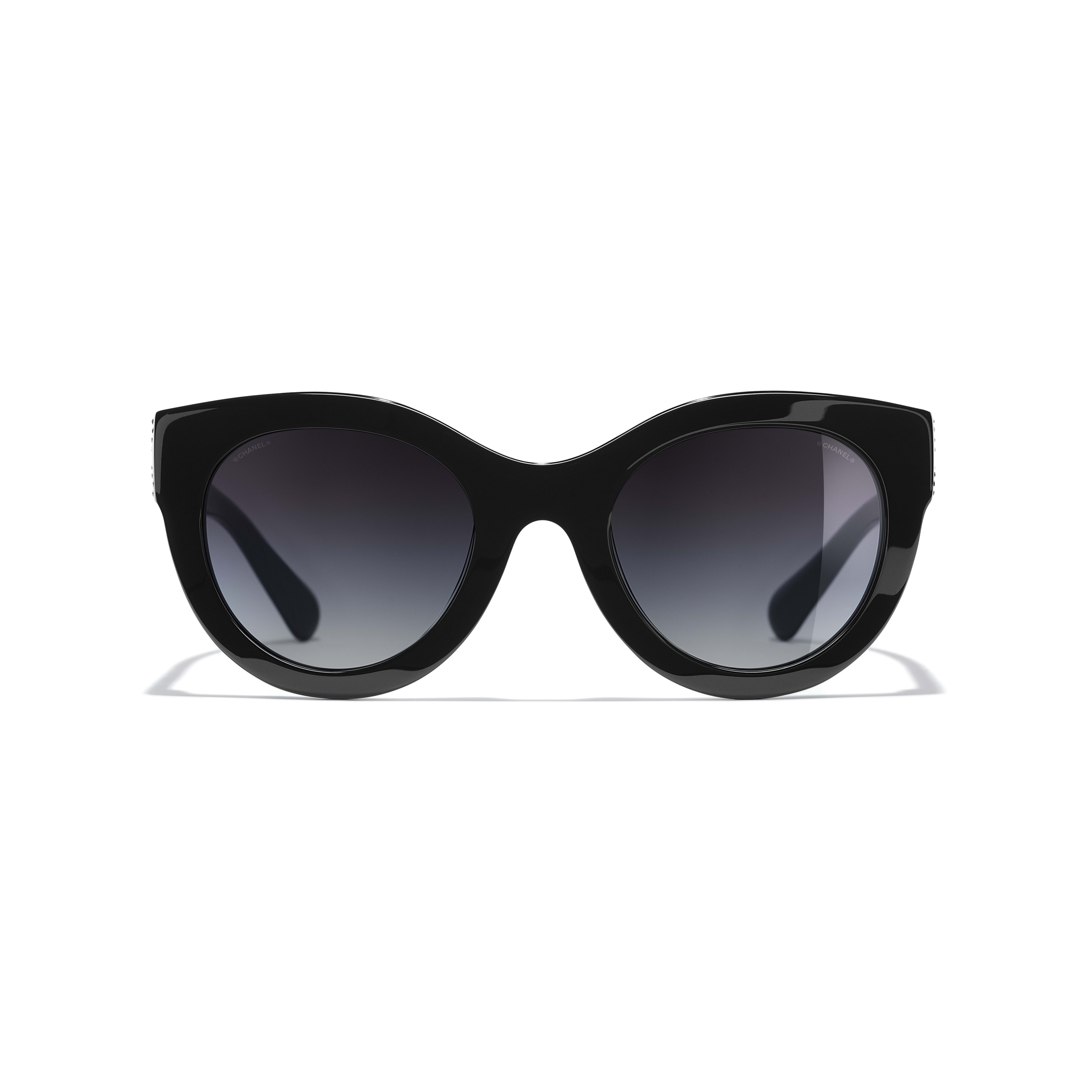 Butterfly Sunglasses - Black - Acetate & Strass - CHANEL - Alternative view - see standard sized version