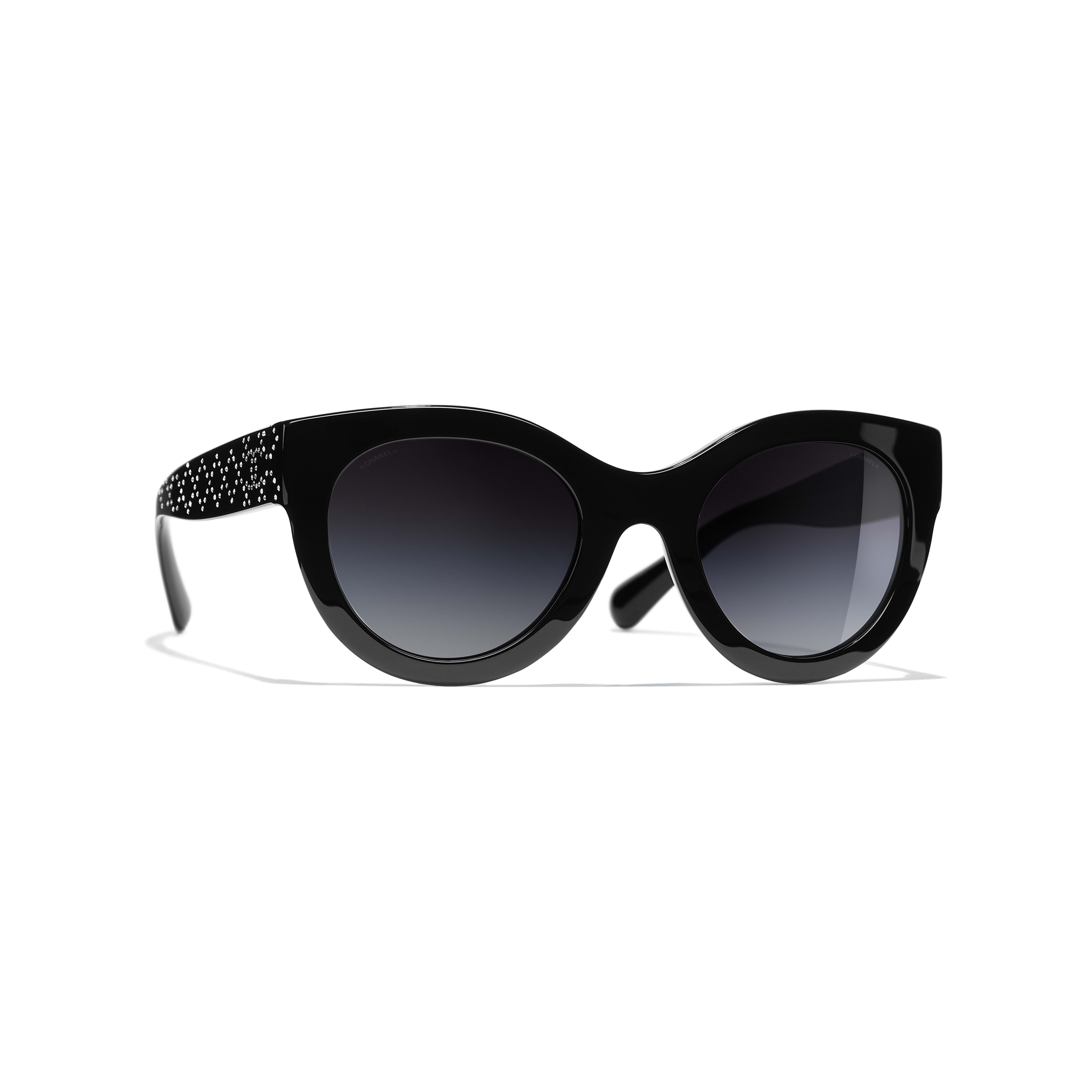 Butterfly Sunglasses - Black - Acetate & Strass - CHANEL - Default view - see standard sized version