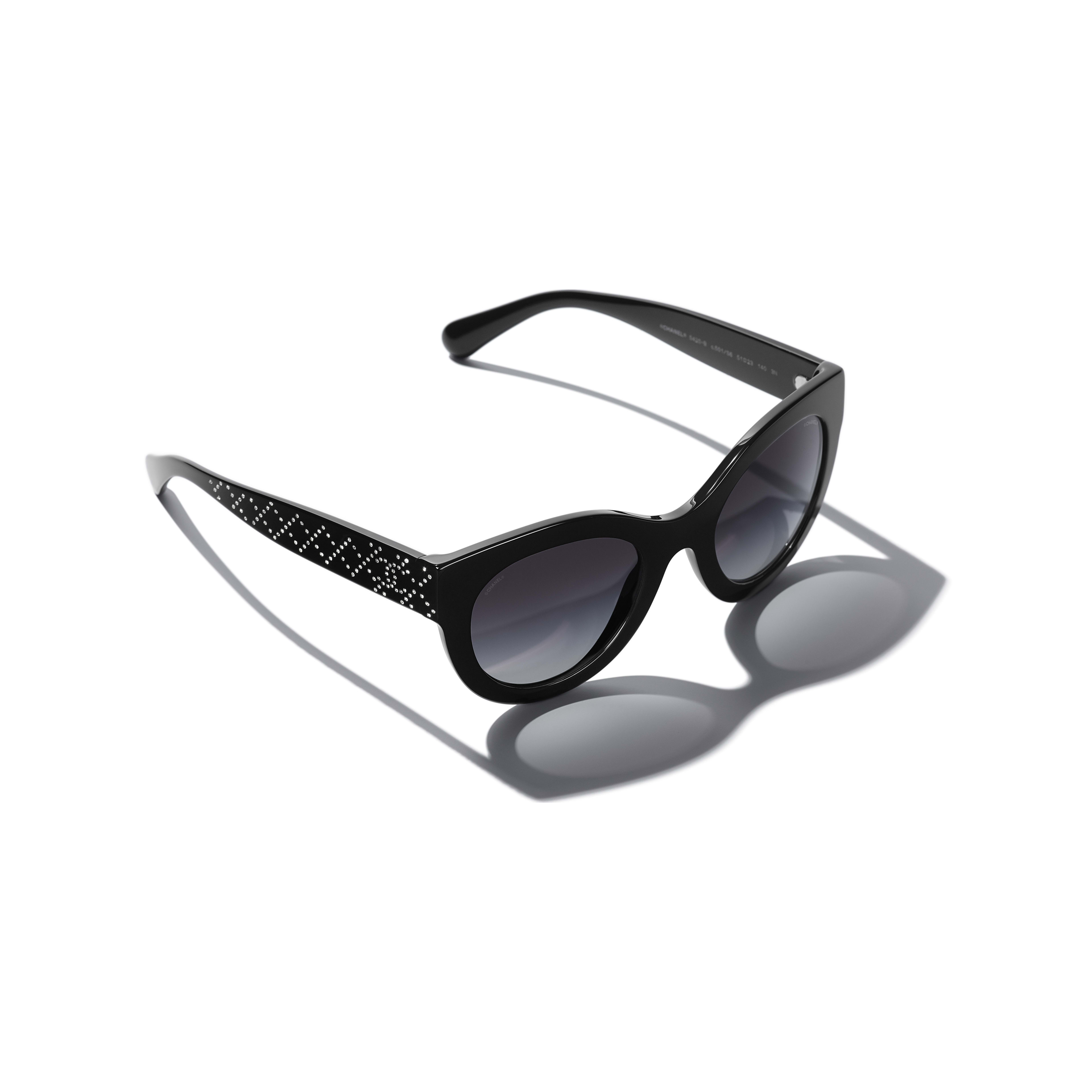 Butterfly Sunglasses - Black - Acetate & Strass - CHANEL - Extra view - see standard sized version