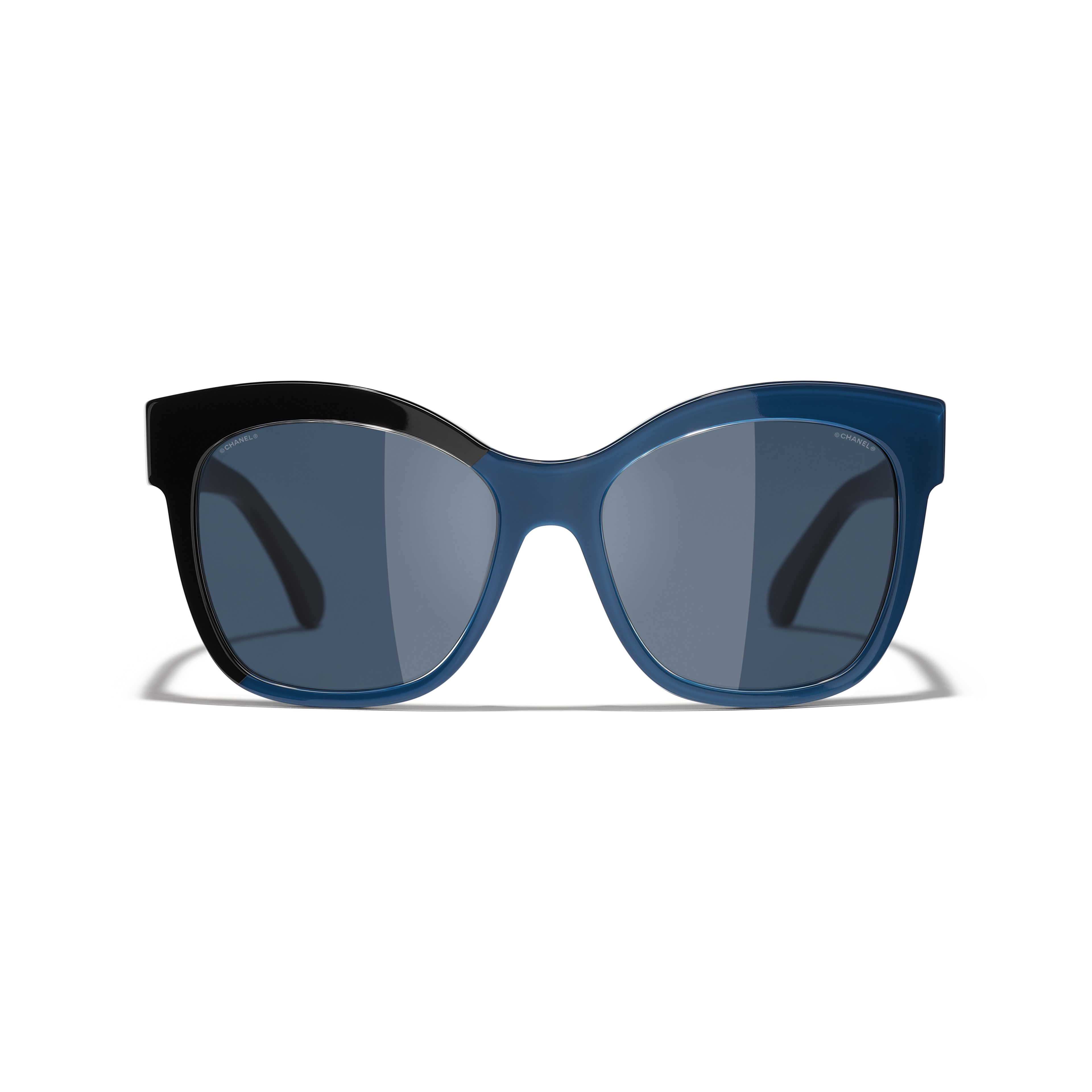 Butterfly Sunglasses - Black & Blue - Acetate - CHANEL - Alternative view - see standard sized version