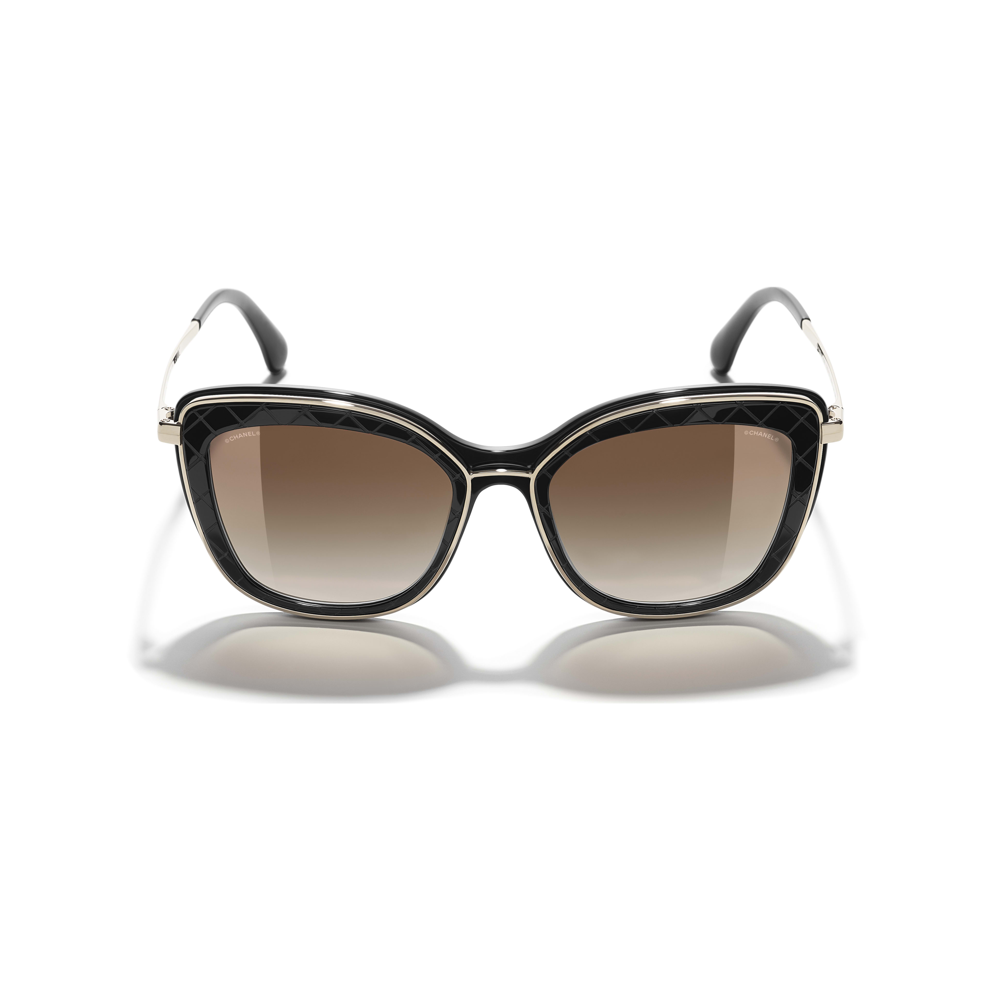 Butterfly Sunglasses - Black & Gold - Acetate & Metal - Extra view - see standard sized version