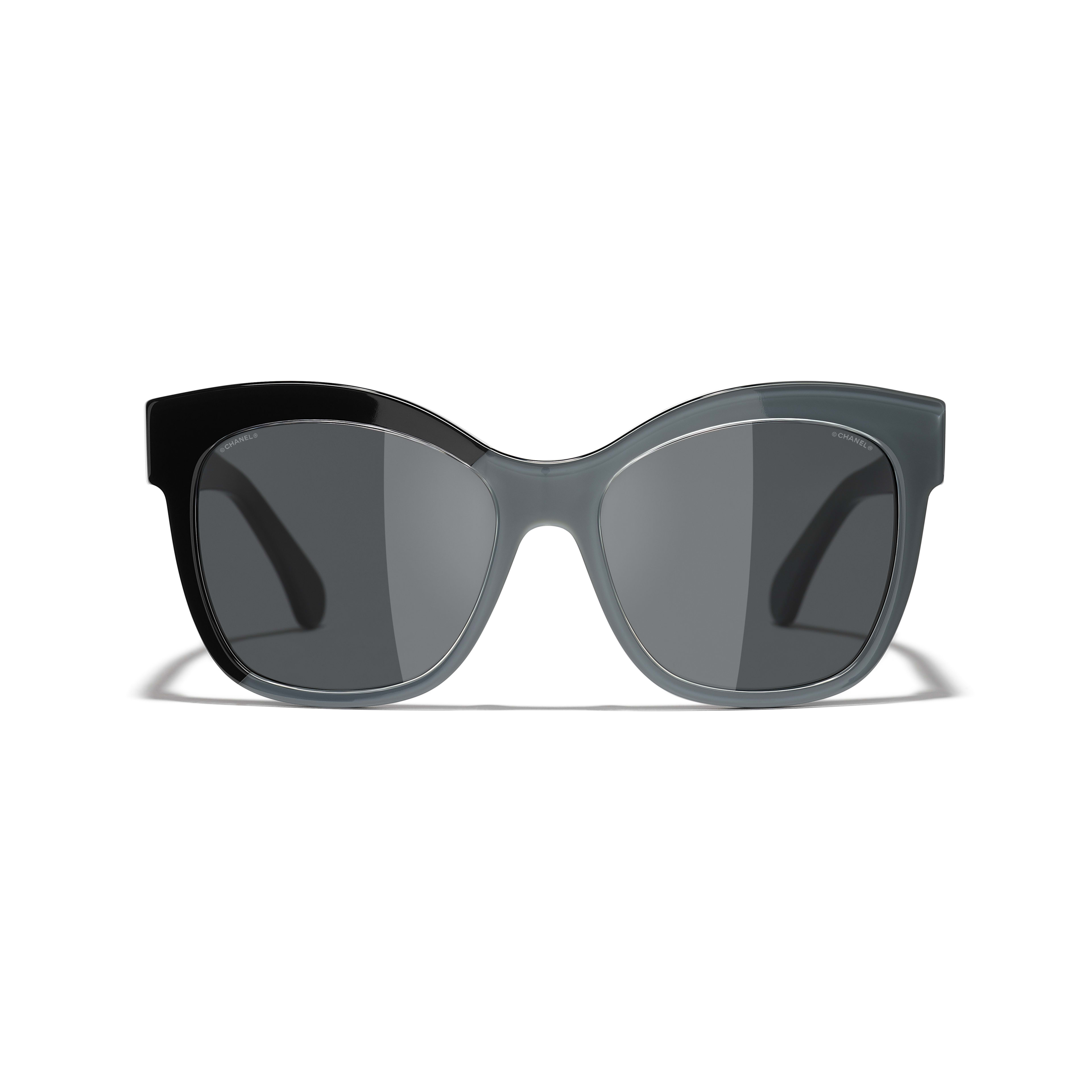 Butterfly Sunglasses - Black & Grey - Acetate - CHANEL - Alternative view - see standard sized version