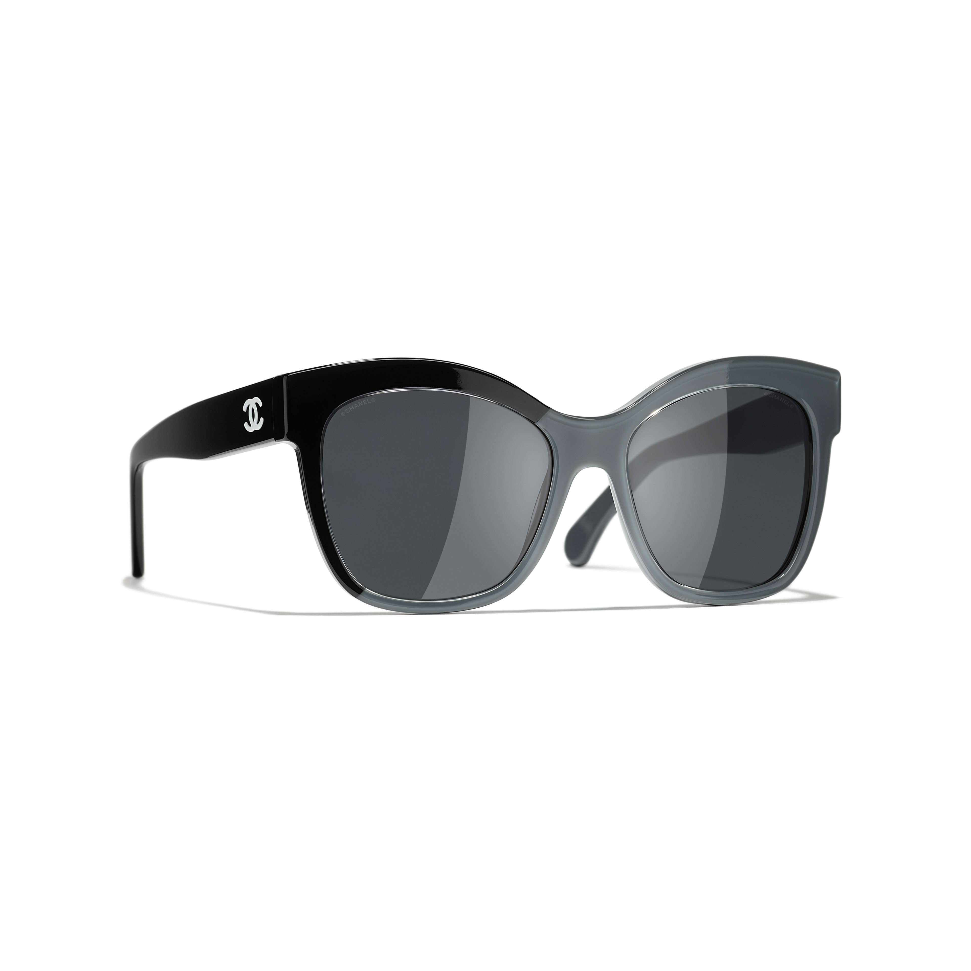 Butterfly Sunglasses - Black & Gray - Acetate - CHANEL - Default view - see standard sized version