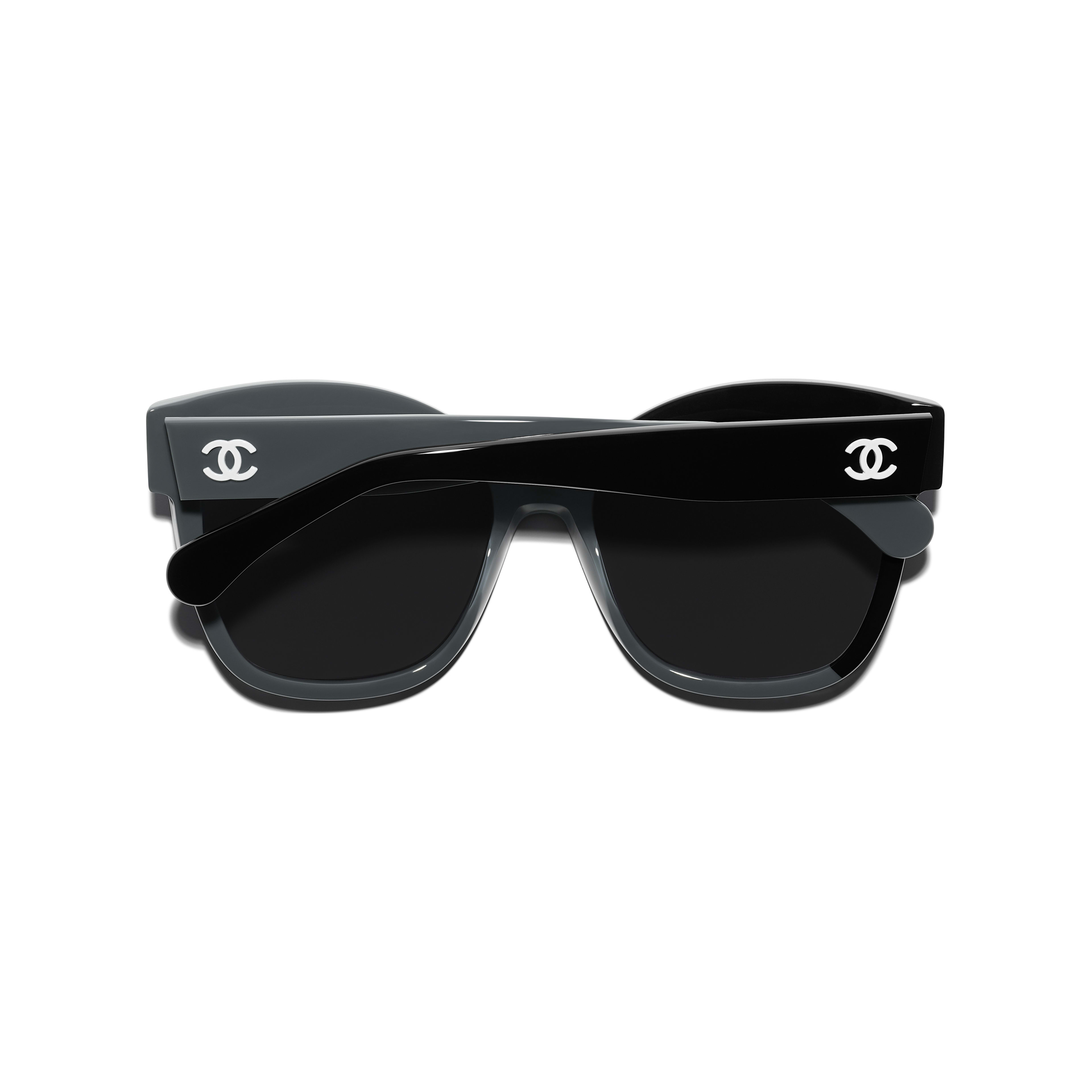 Butterfly Sunglasses - Black & Gray - Acetate - CHANEL - Extra view - see standard sized version