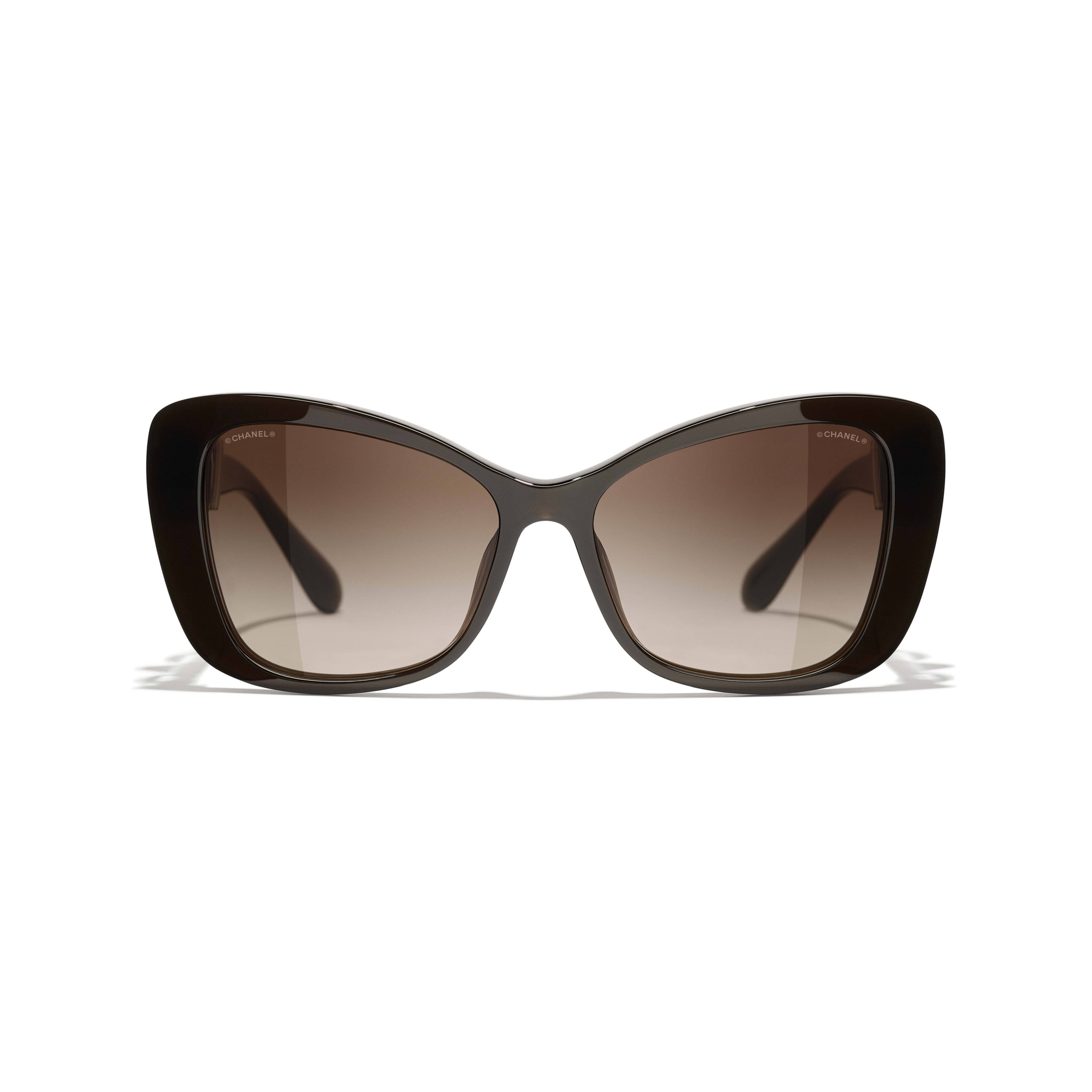 Butterfly Sunglasses - Brown - Acetate & Glass Pearls - CHANEL - Alternative view - see standard sized version
