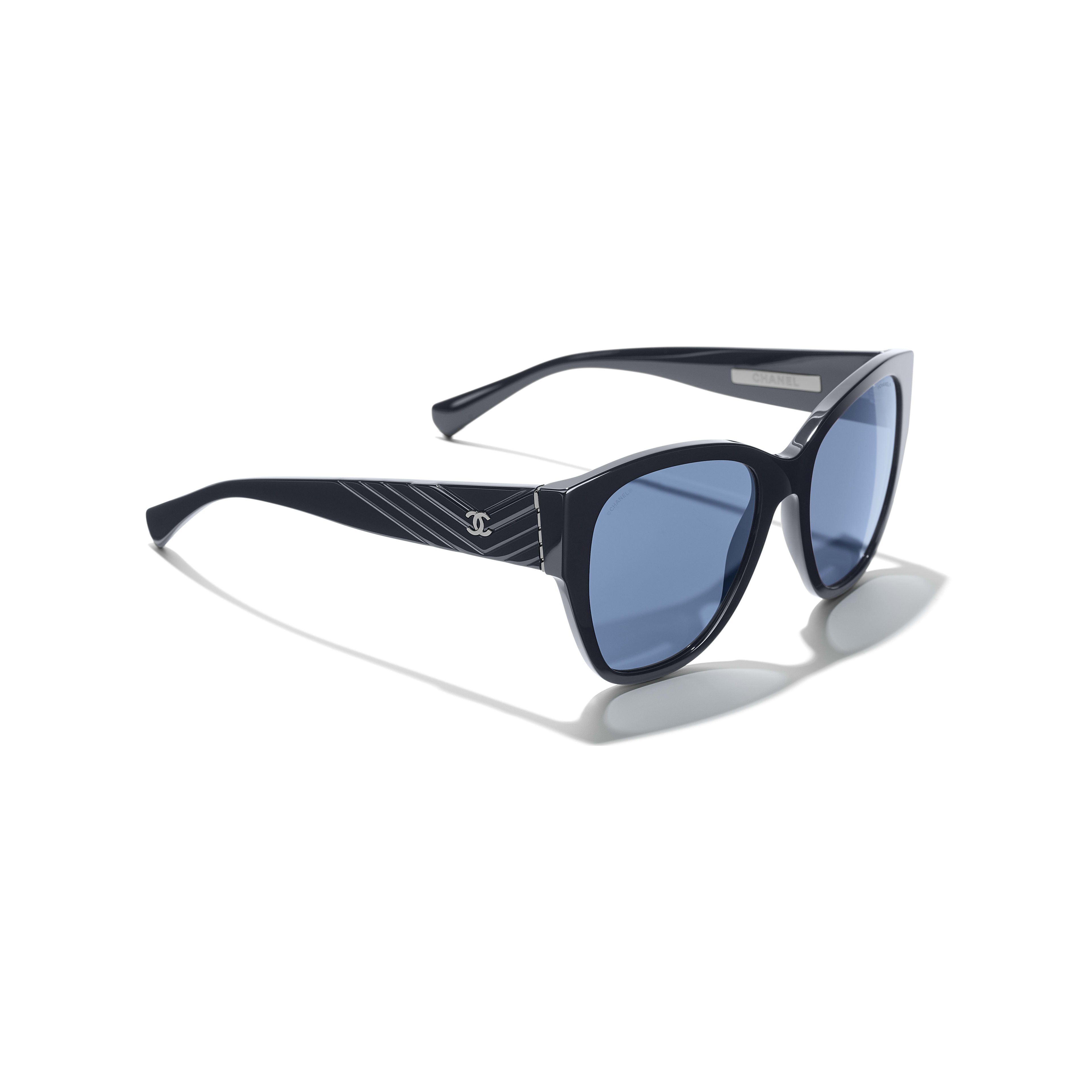 Butterfly Sunglasses - Dark Blue - Acetate - Extra view - see standard sized version